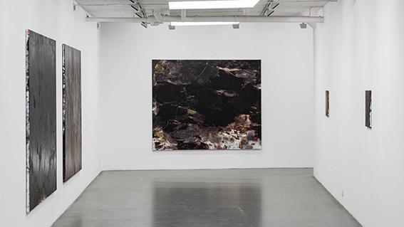 """Installation view \""""Soft Ground\"""", Galleri Flach 2014"""