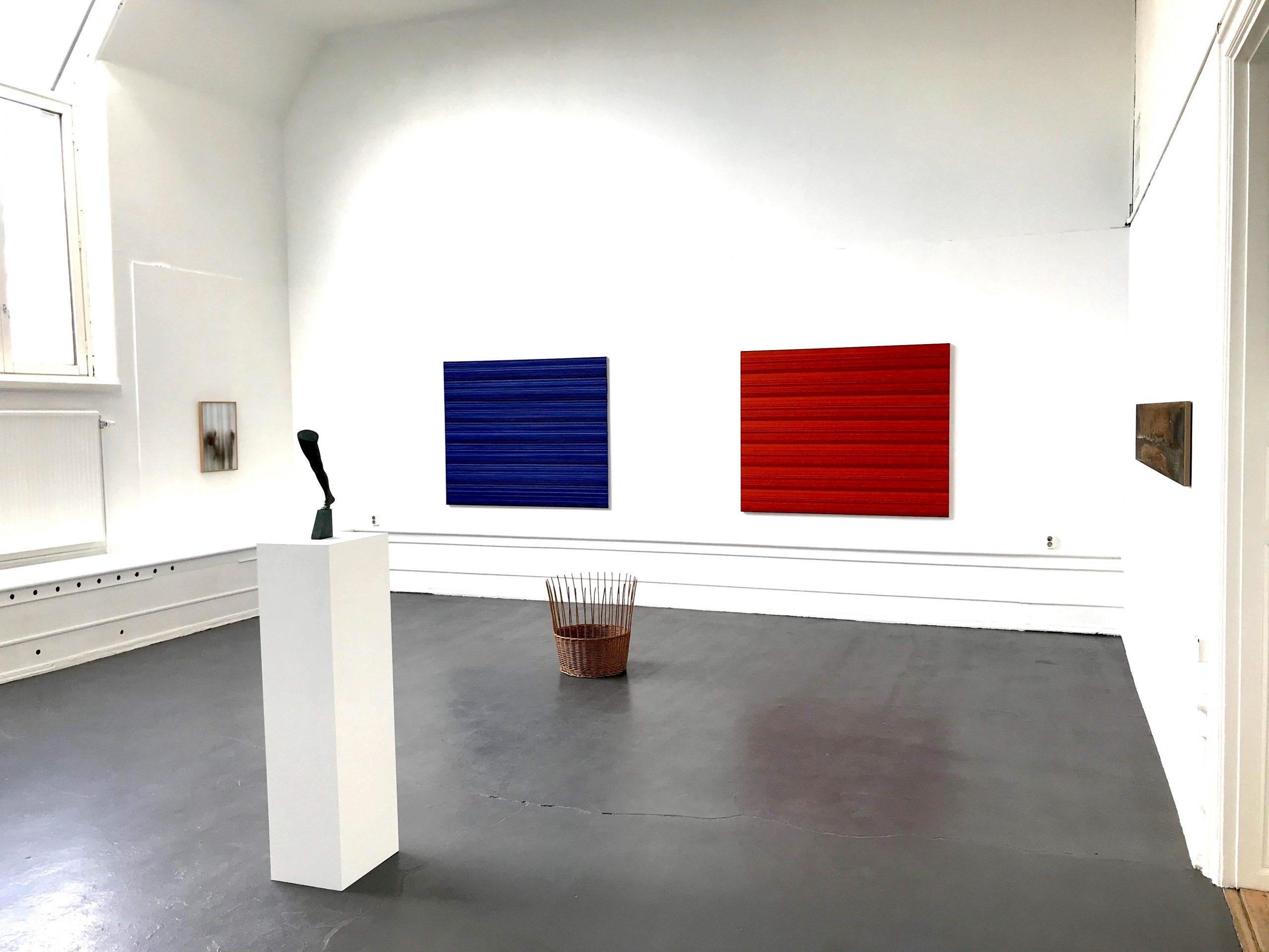 Ande och Materia / Mind and Matter, april 2020. Installation view. Rickard Sollman, Fredrik Wretman, Jakob Solgren
