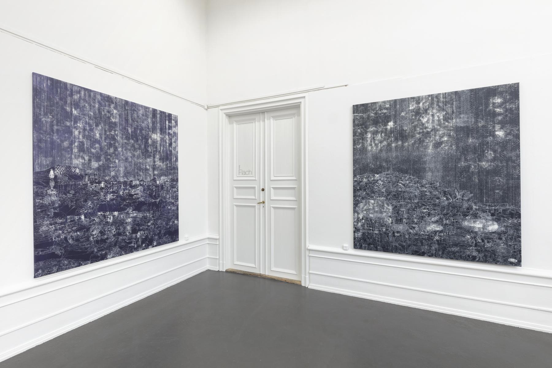 "Lisa D Manner, ""Long Wave"", 2020.  Installation view: Downwind, 2019, Upwind, 2019, Galleri Flach"