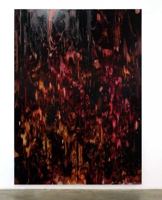 "Julia selin, ""Hot soggy night mire"", 2020, oil on canvas, 270x196 cm."