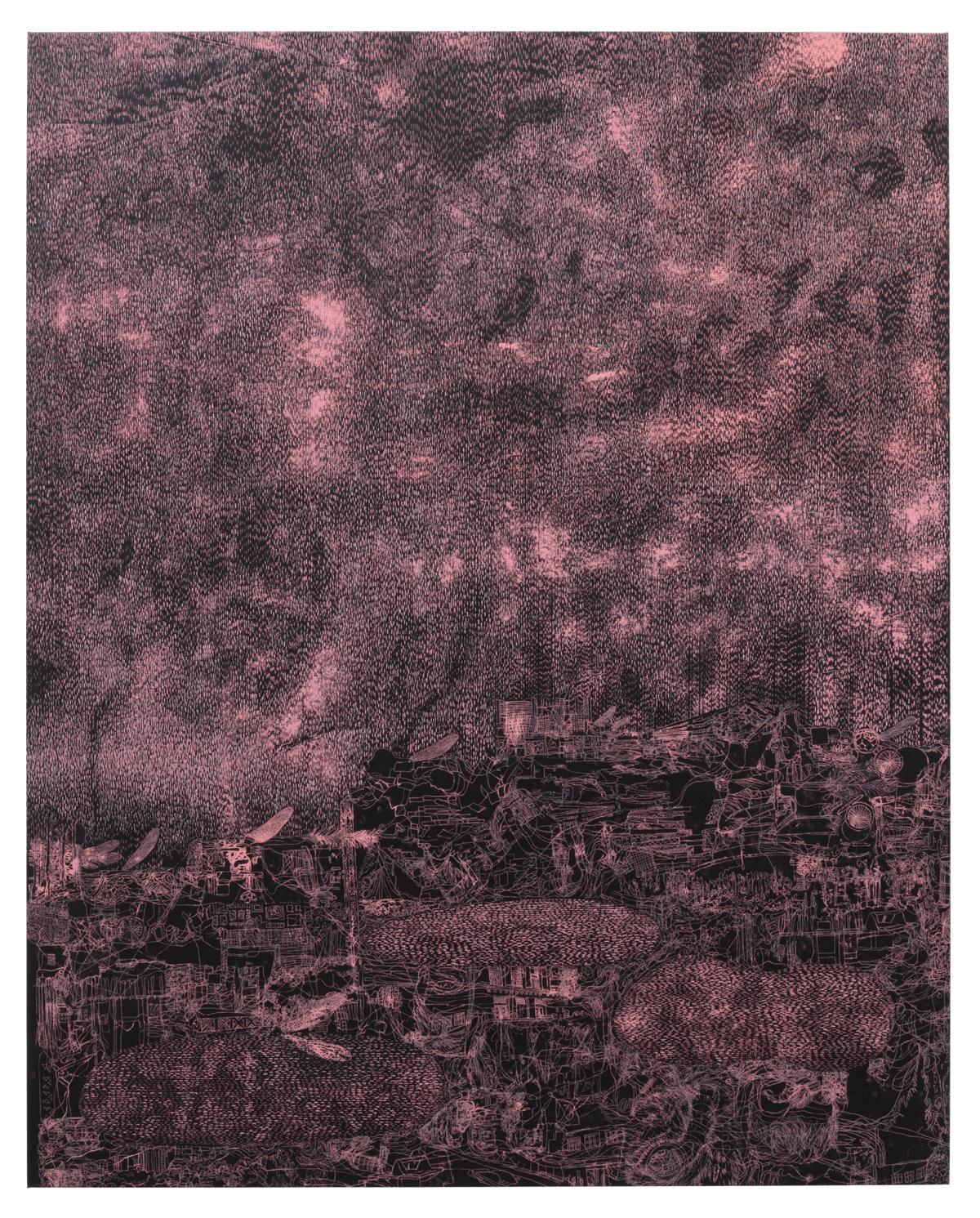 "Lisa D Manner,"" Stellar,"" 2020, oil on canvas, 179x143 cm, Galleri Flach"