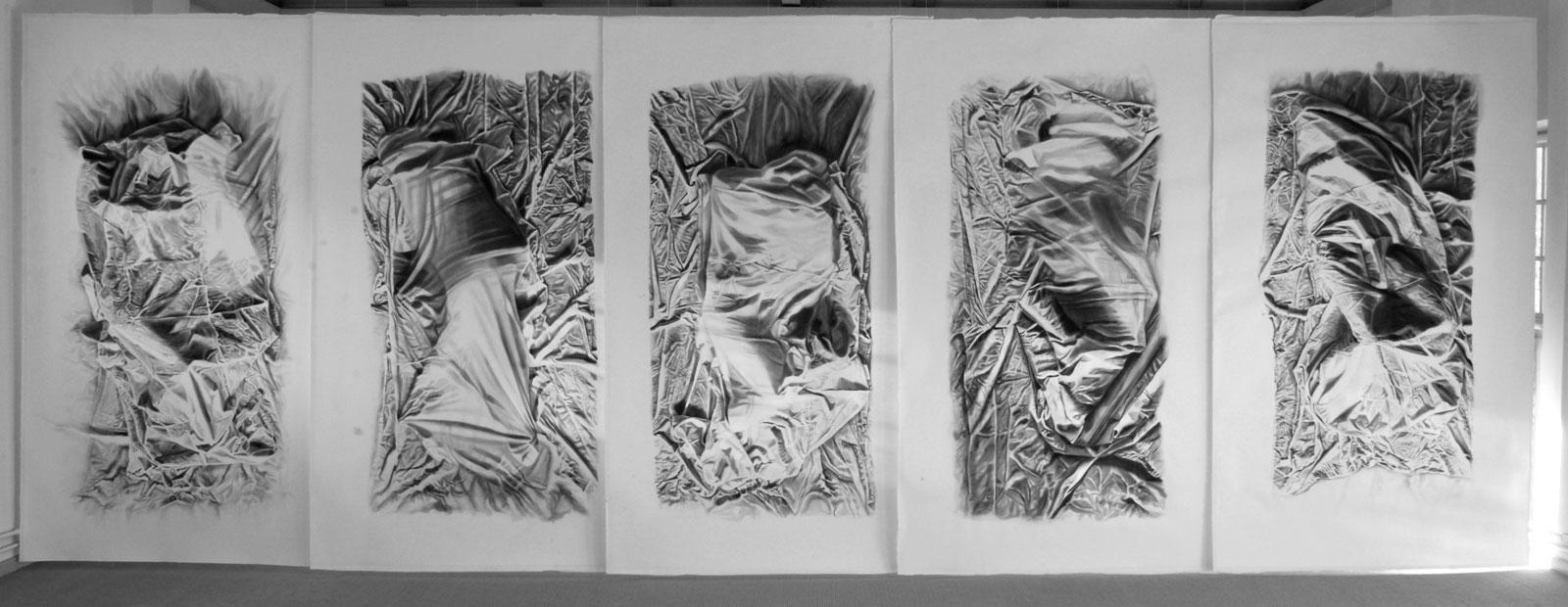 """Kristina Bength, """"Att dölja för att låta det dolda synas"""", 2014, 250 x 148 cm"""