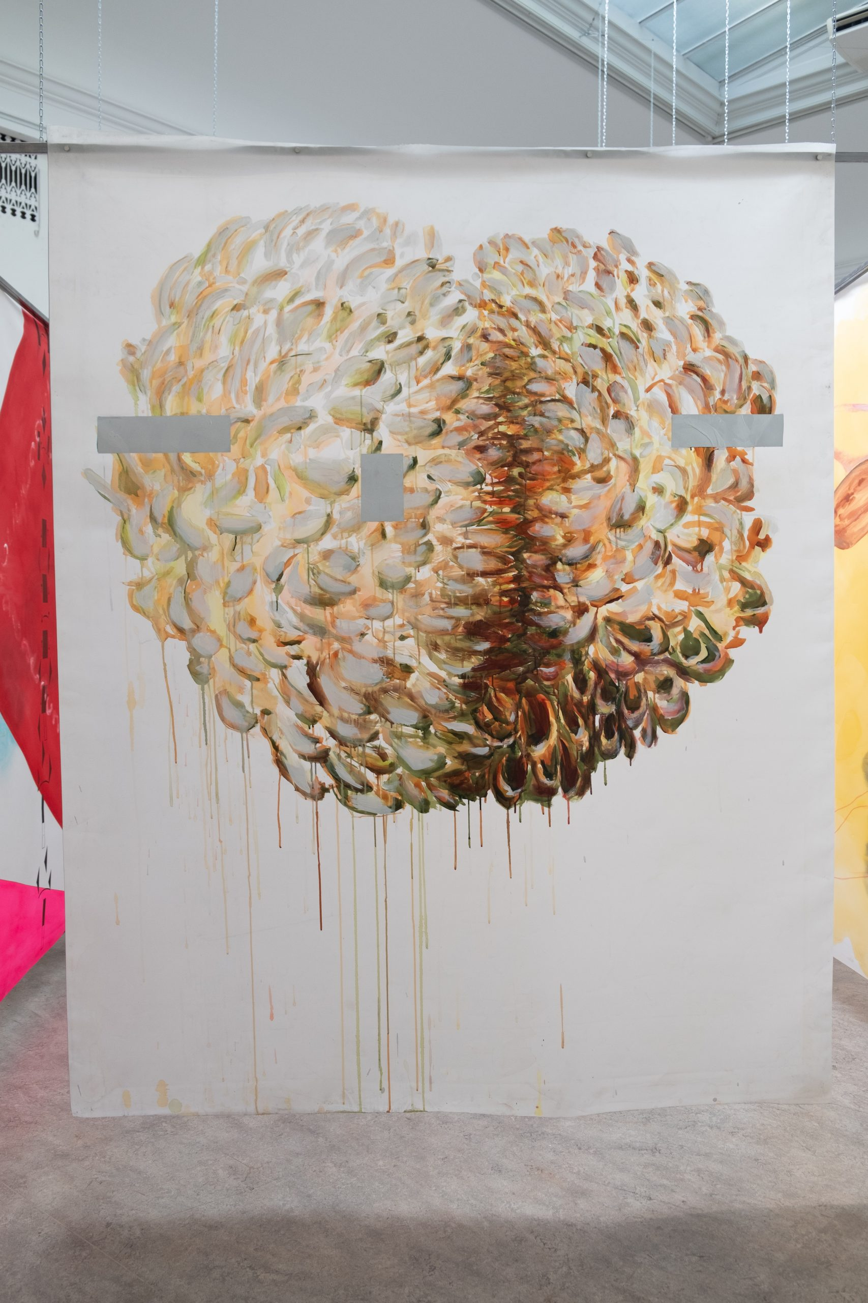 """Martin Gustavsson, Installation view:""""Un Chant Ecarlate"""", Galleri Öst, Konstakademien 2019. Photo: Vanessa Fristedt"""