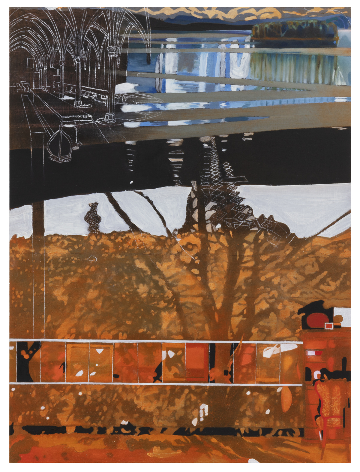 "Lisa D Manner,"" Wave washed"", 2020, oil on mdf, 40x30 cm, Galleri Flach"