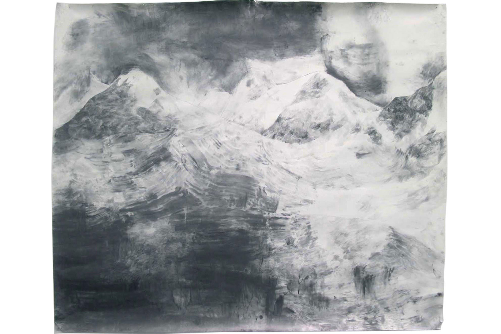 "Julia Selin, ""Drömtiden"", 2012, cryon on paper, 242 x 272"