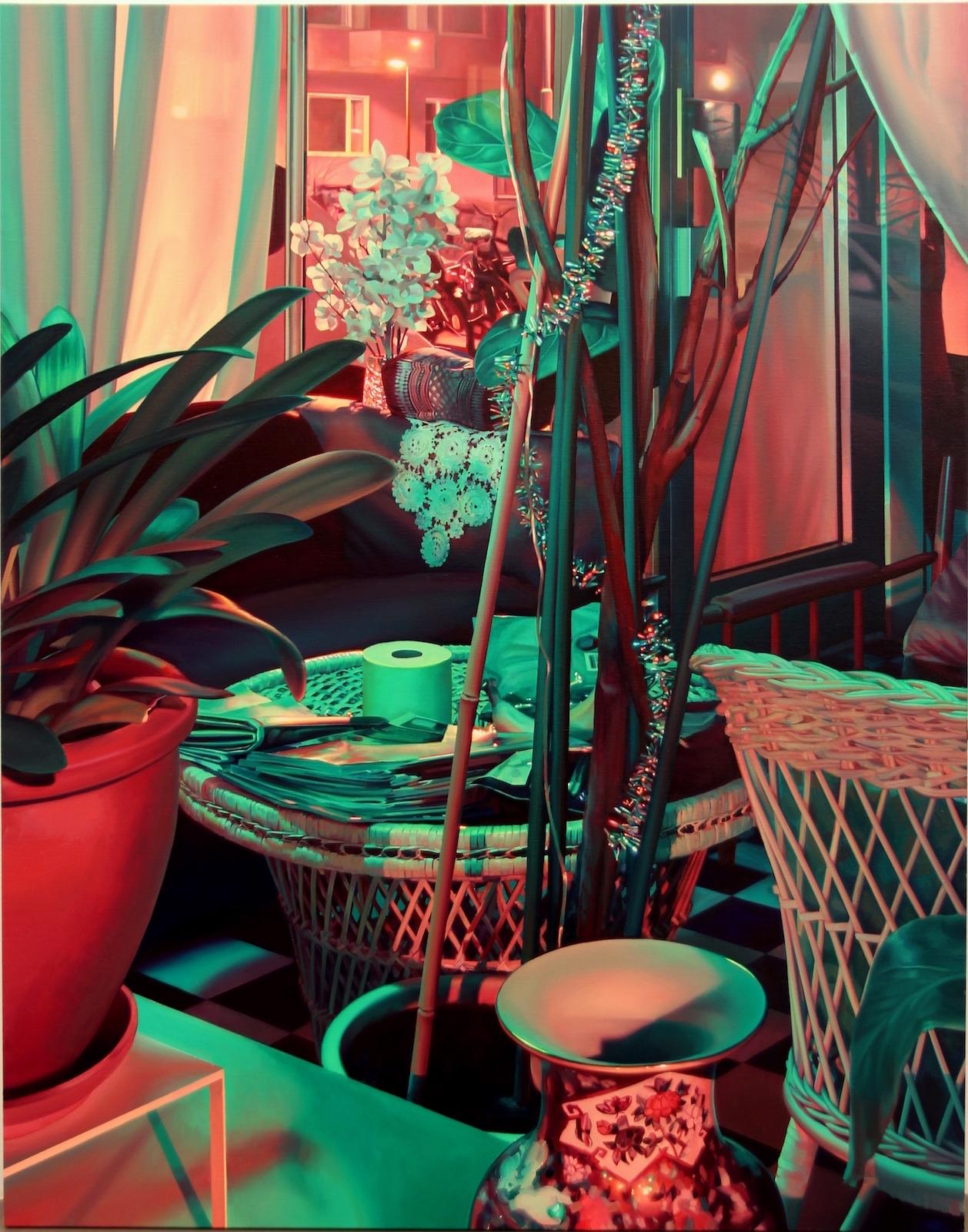 "Pauliina Pietilä, ""Parlour,"" 2016, oil on canvas, 160 x 130 cm"
