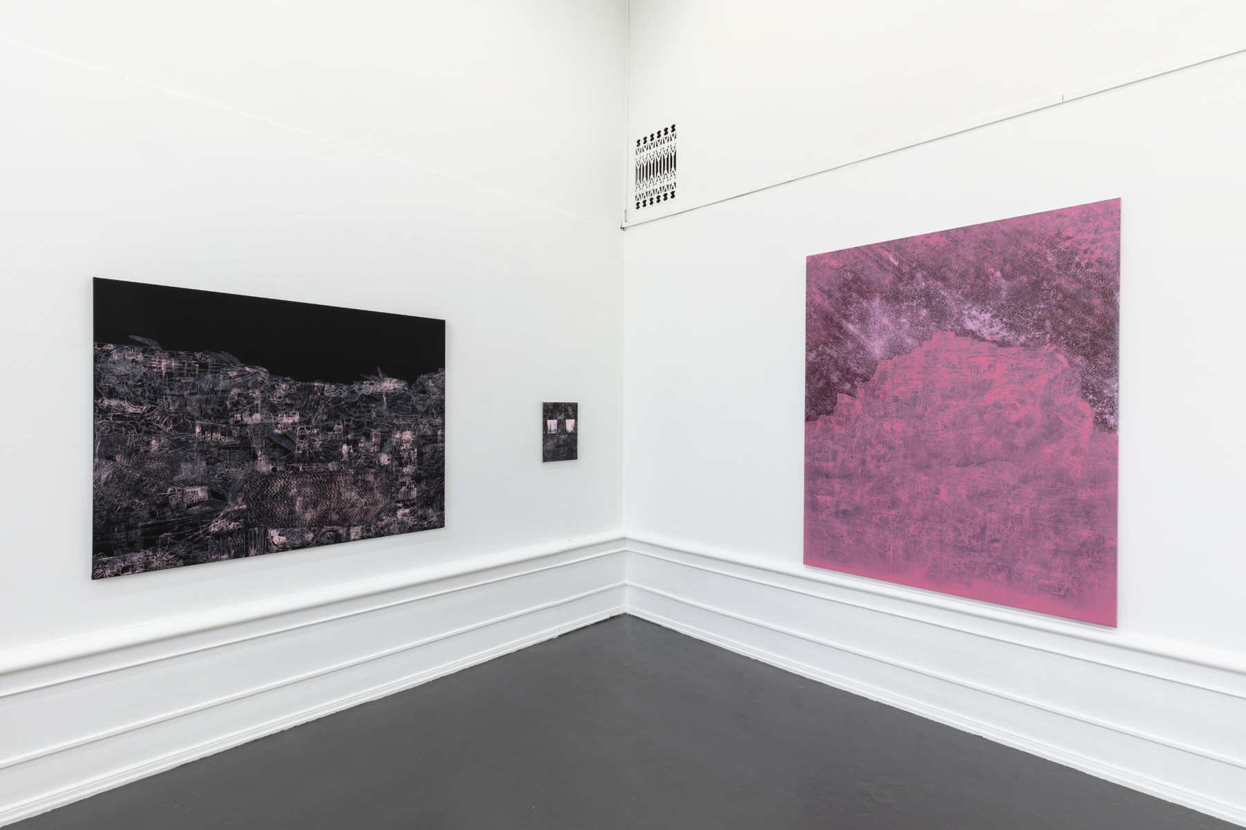 "Lisa D Manner, ""Long Wave"", 2020.  Installation view: ""Take off"", 2020, ""Scarlet Lake"", 2020, Galleri Flach"