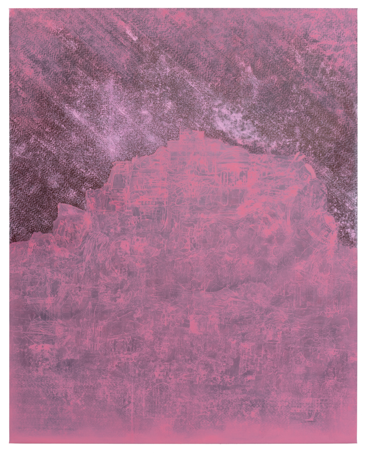 "Lisa D Manner,""Scarlet Lake, "", 2020, oil on canvas, 179x143 cm, Galleri Flach"