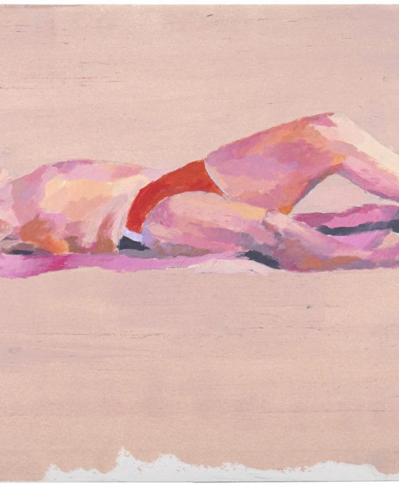 """Pontus Raud: """"Den ljusa vägen"""", 2021. Oljepastell på papper, 30 x 40 cm"""