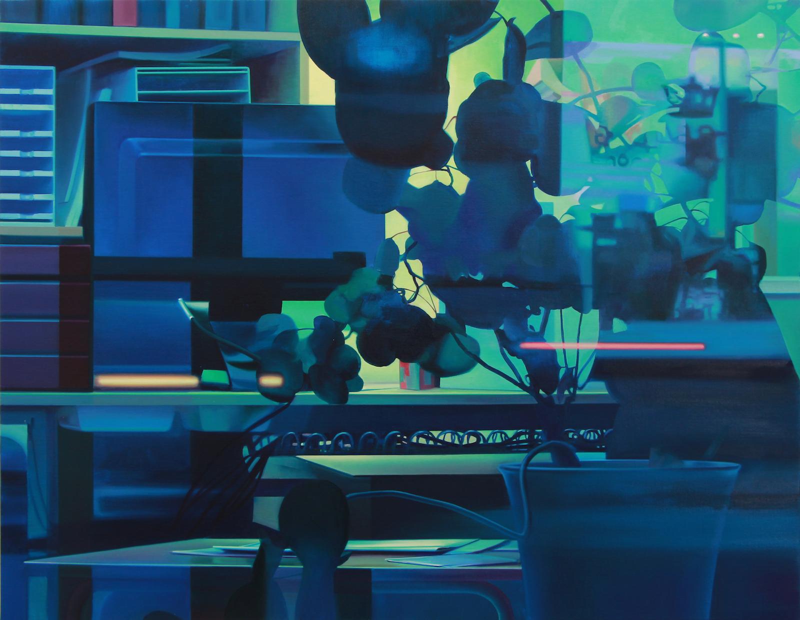 """Pauliina Pietilä, """"Vintern"""" (The Winter), 2015, oil on canvas, 105 x 135 cm"""