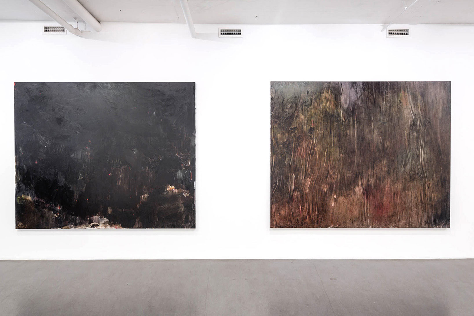 "Julia Selin, ""Untitled I, II"", 2014, oil on canvas, 196 x 240 cm"