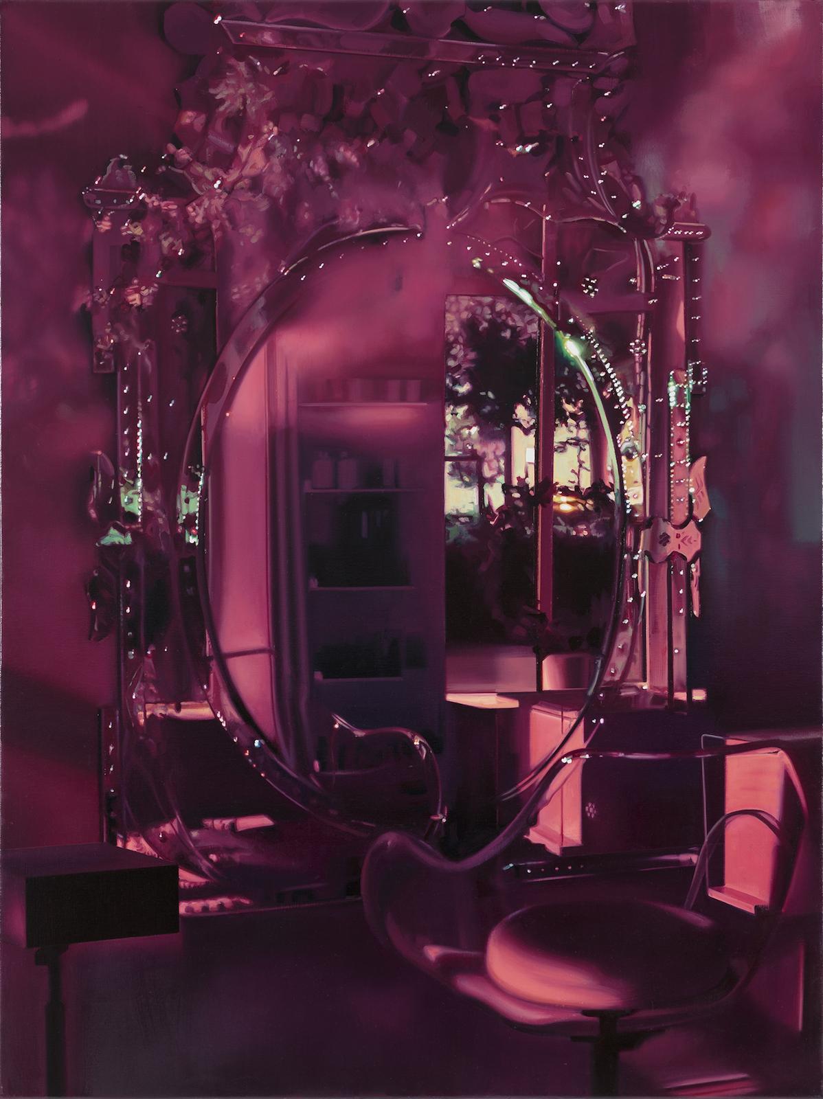 """Pauliina Pietilä, """"Spegeln"""" (The Mirror), oil on canvas, 120 x 90 cm"""