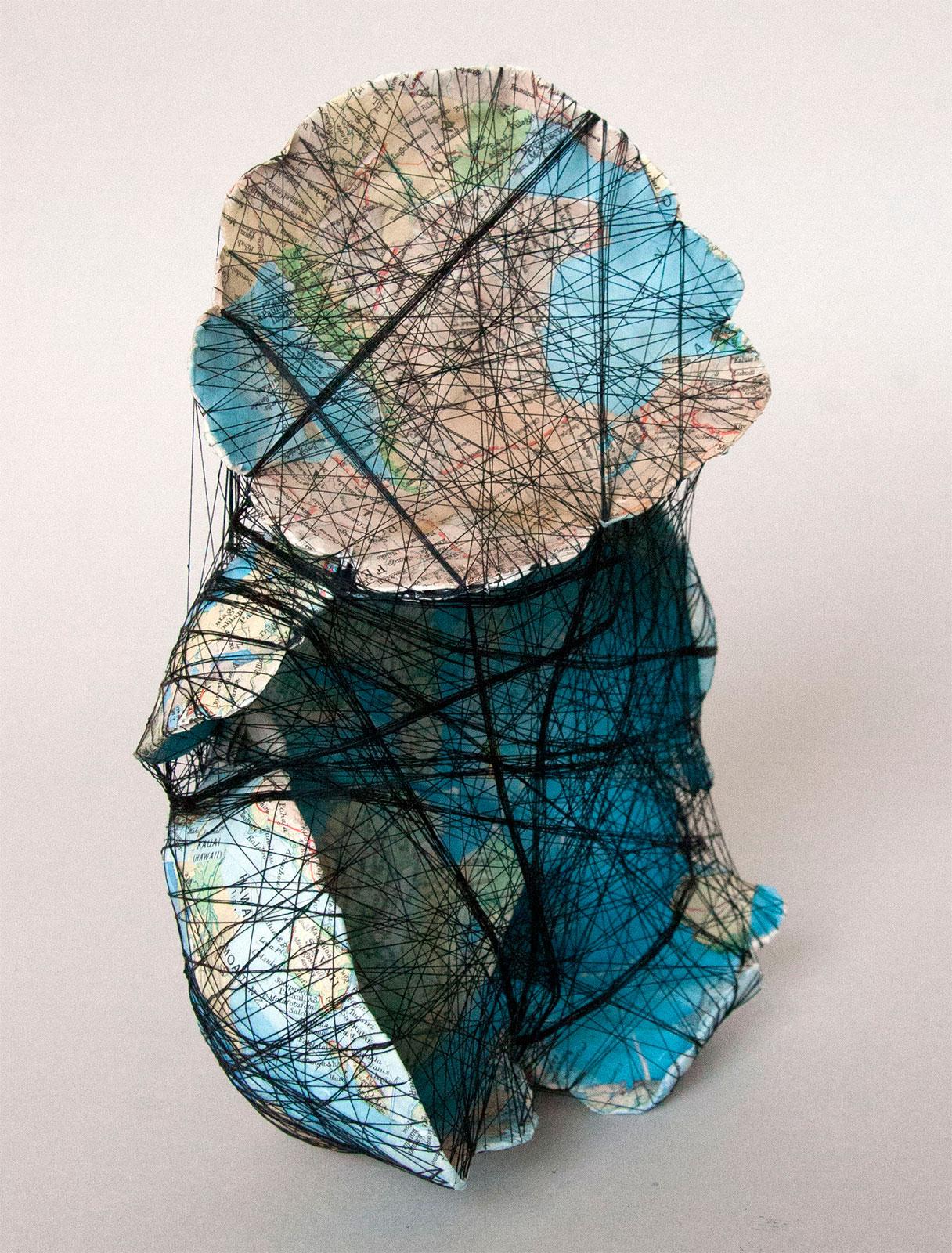 """Hillevi Berglund, """"Baby"""", 2012. Paper, Sewing thread, 22 x 15 x 12 cm"""