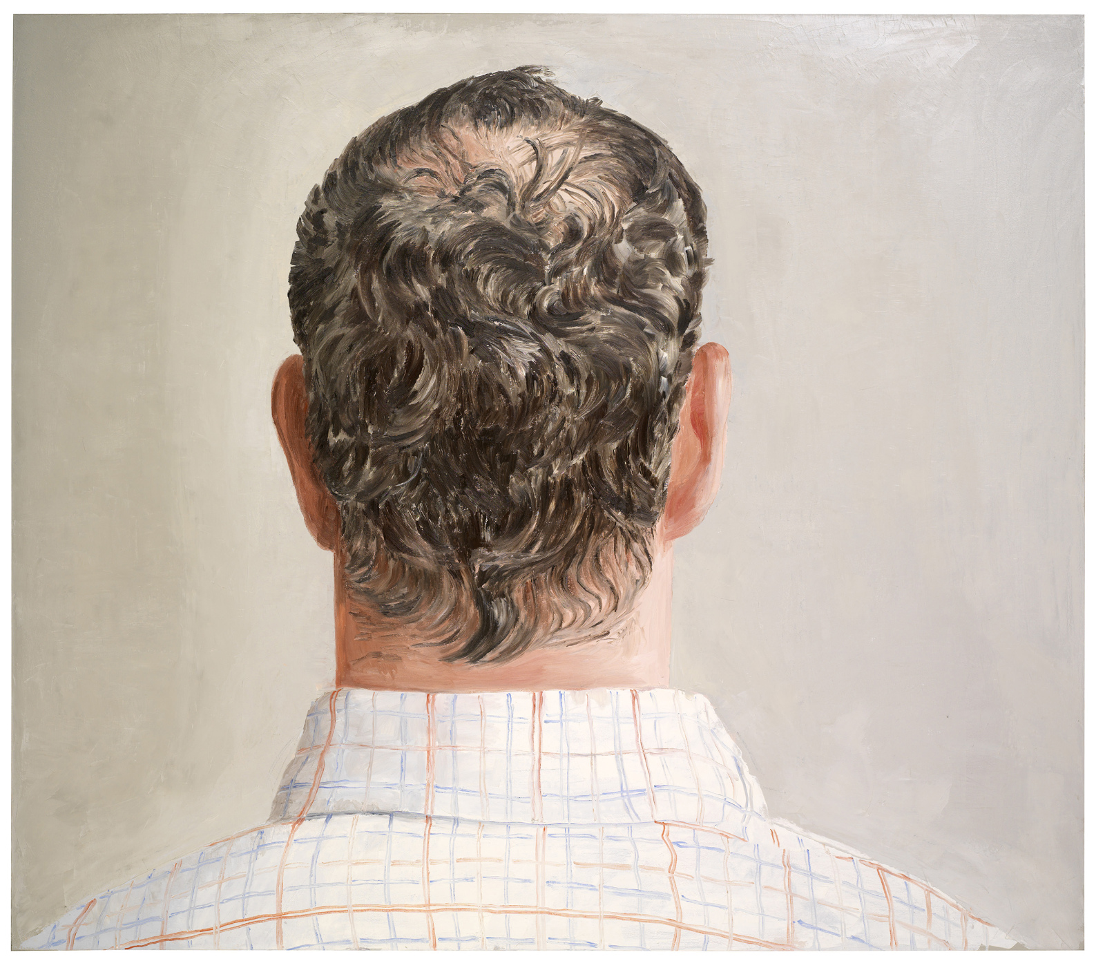 "Thorbjørn Sørensen, ""Bakhode"" (Back of Head), 2013, oil on canvas, 175 x 200 cm"