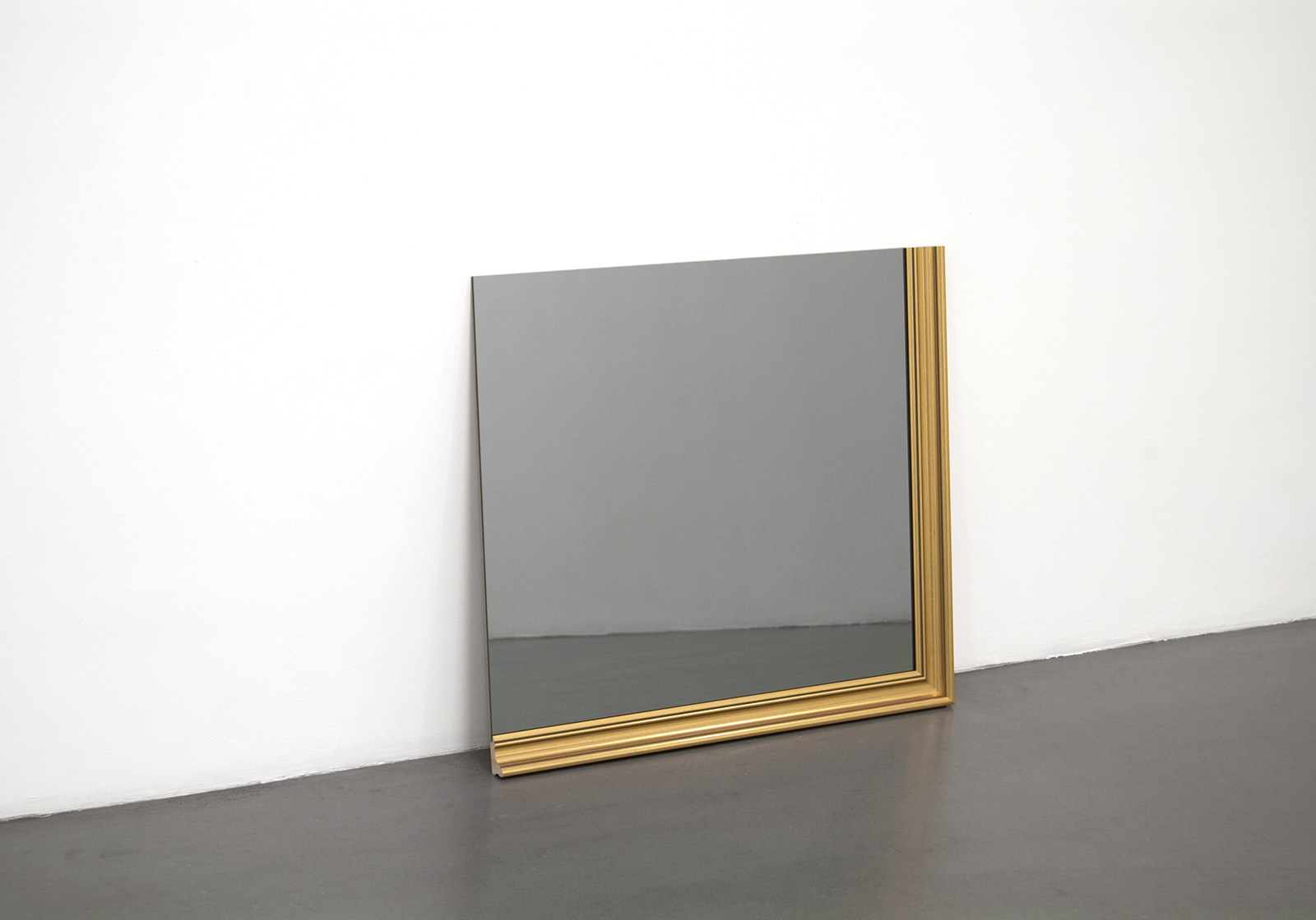 "Karin Ohlin, ""Spegelobjekt XIII"" (Mirror object), 2013, gold frame, gray mirror glass 68 x 76 x 3 cm."