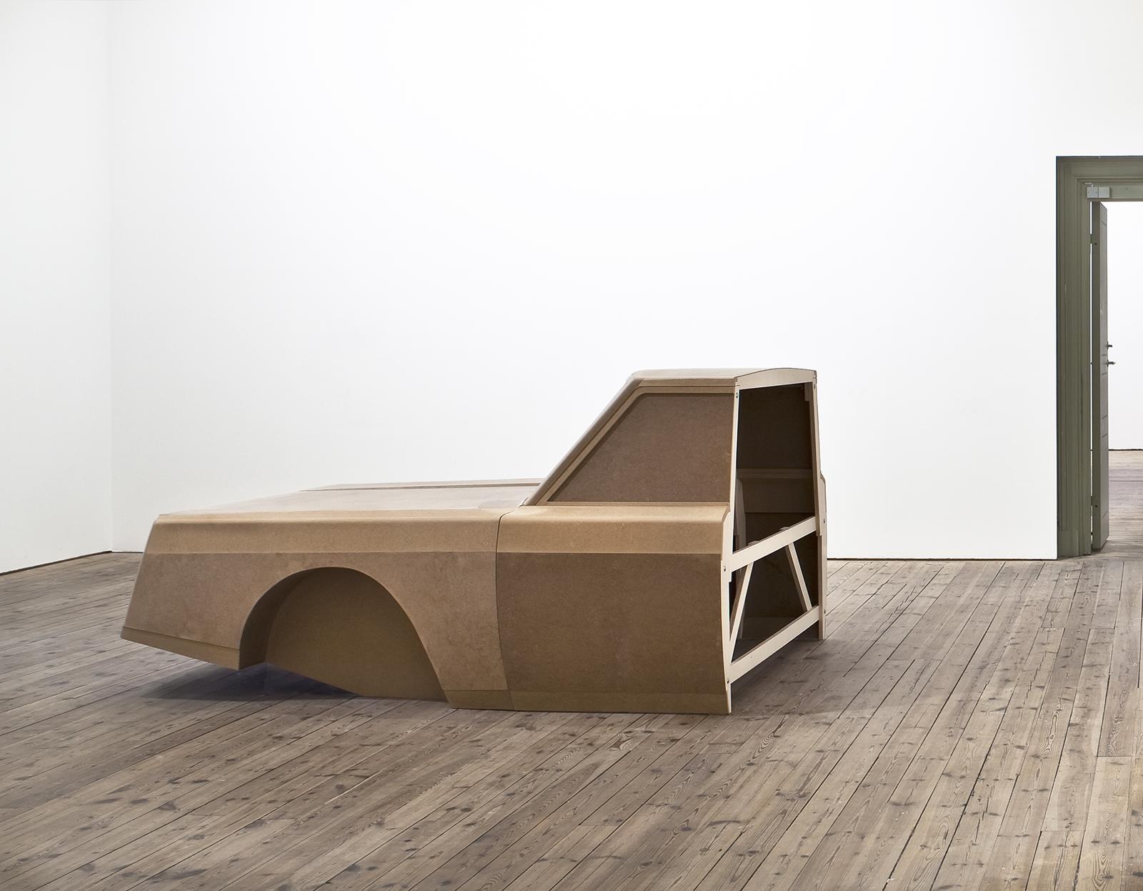 """Karin Ohlin, """"Glömska"""" (Oblivion), 2010, mdf, poppel plywood, 240 x 165 x 120 cm,"""