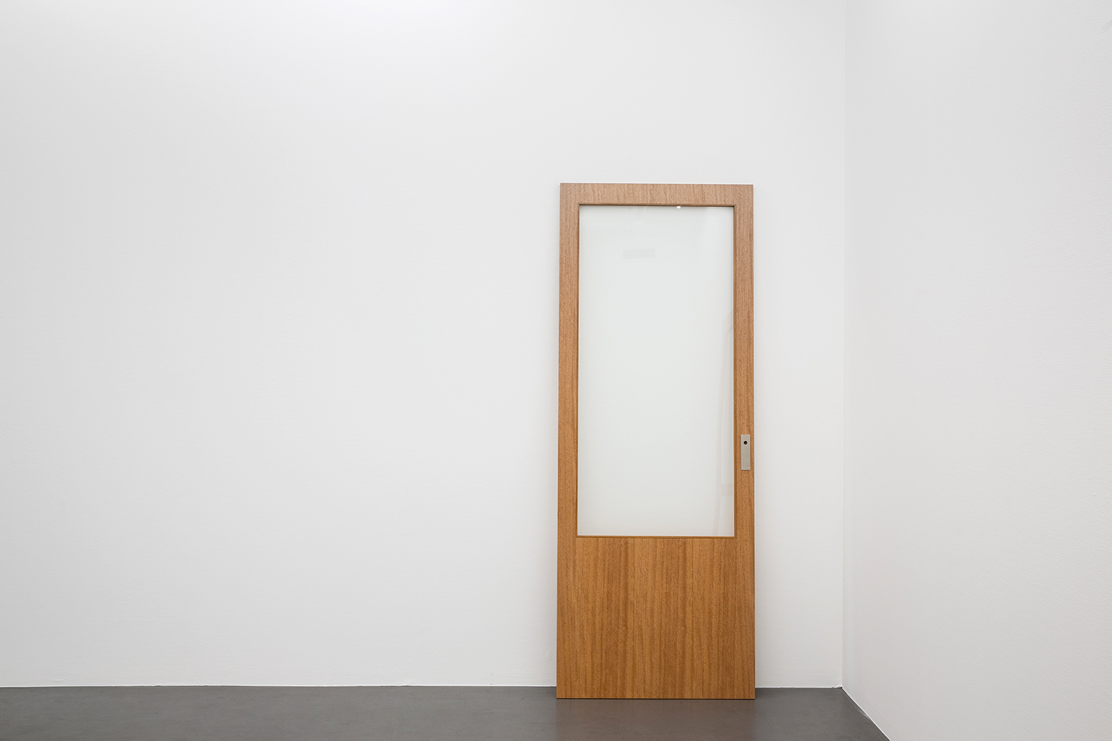 "Karin Ohlin, ""Dörr utan handtag II"" (Door without handle), 2012, gabonfanér, wood, glass, stainless steel"