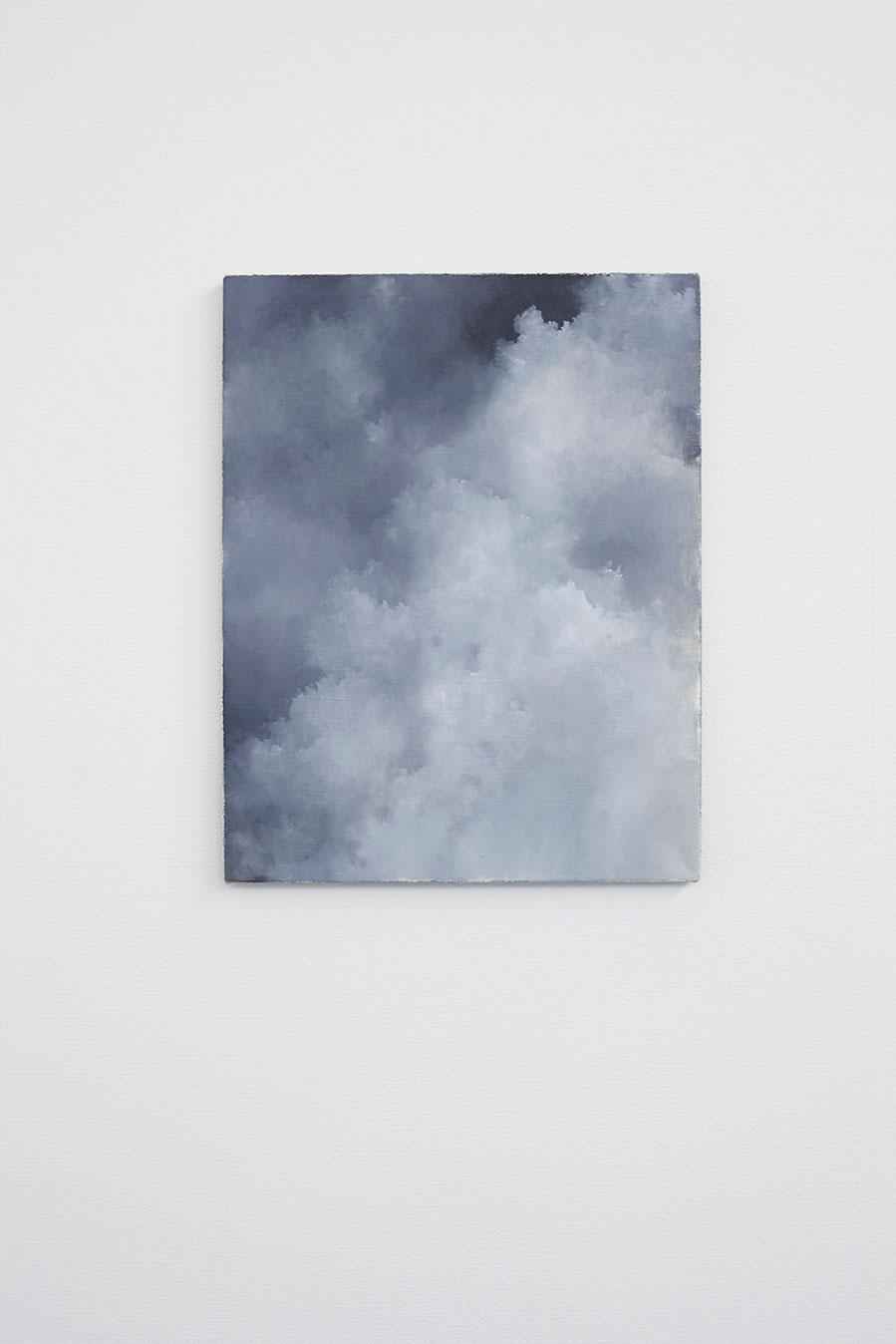 "Jakob Solgren, ""Brand"", 2017. Oil on canvas, 46 x 36 cm"