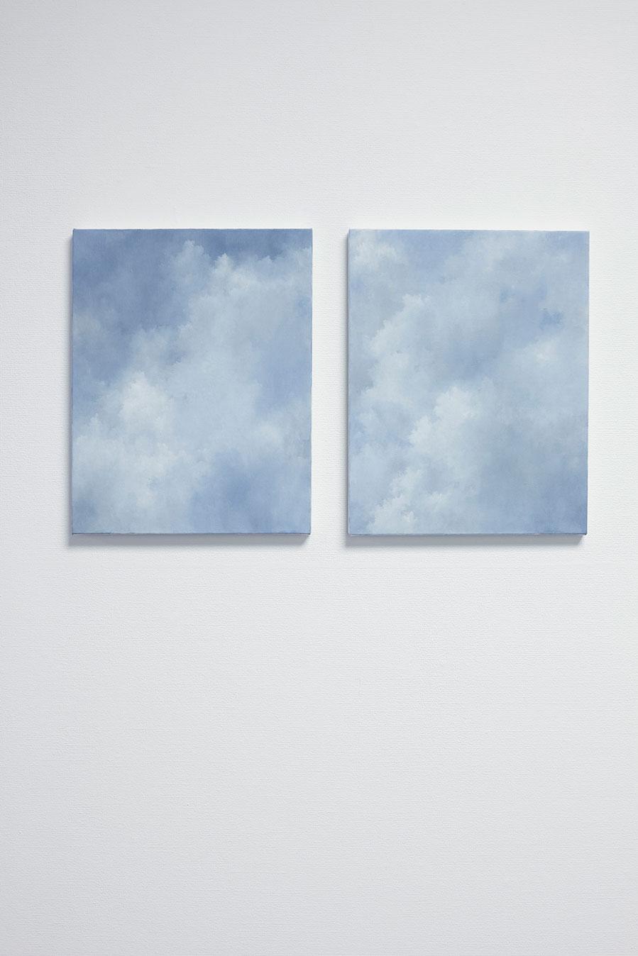 """Jakob Solgren, """"Bryt en gren klyv en sten"""", 2017. Oil on canvas, 46 x 36 cm x 2"""