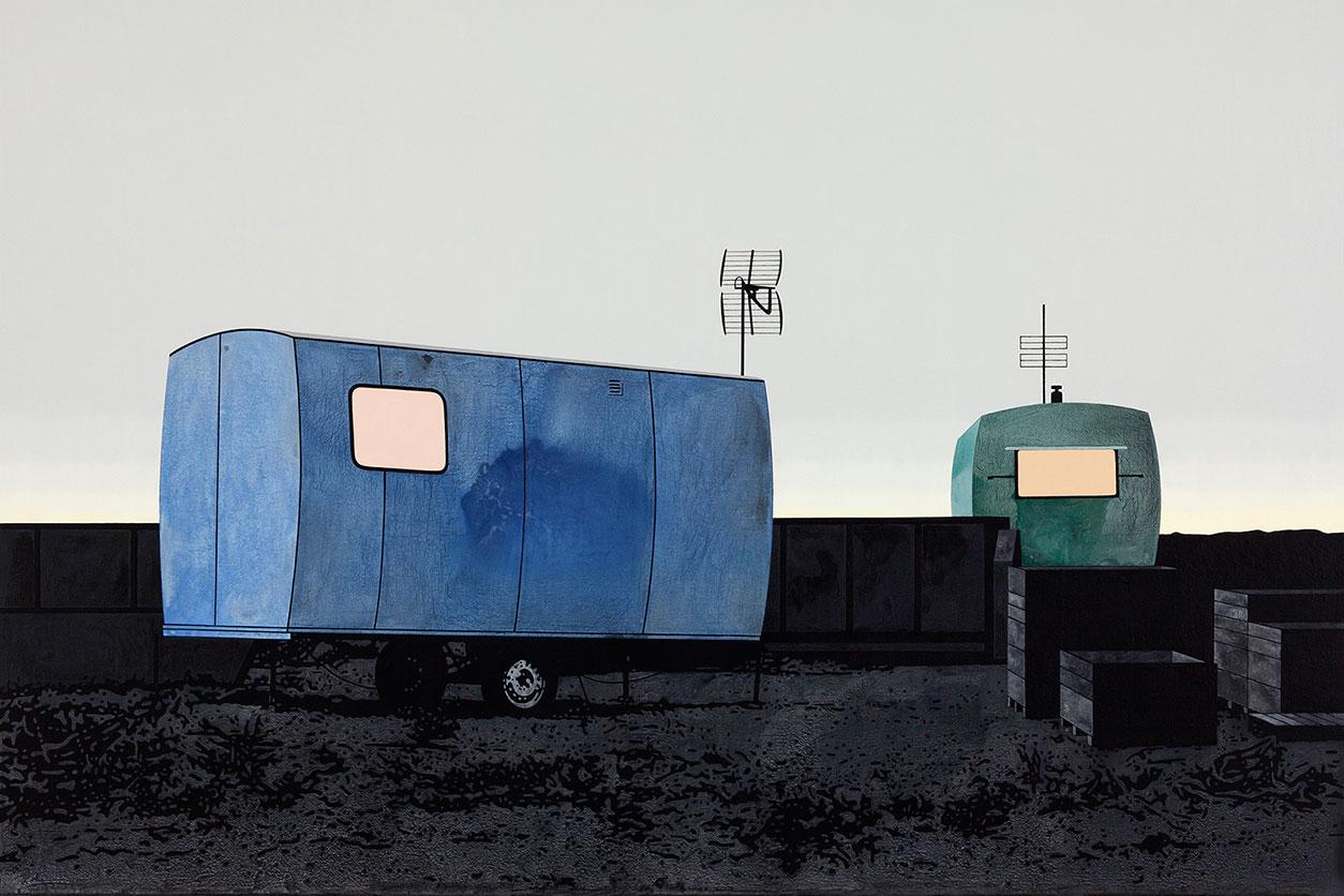 """Henrik Samuelsson, """"Dead End"""", 2014. Mixed media on canvas, 100 x 150 cm"""