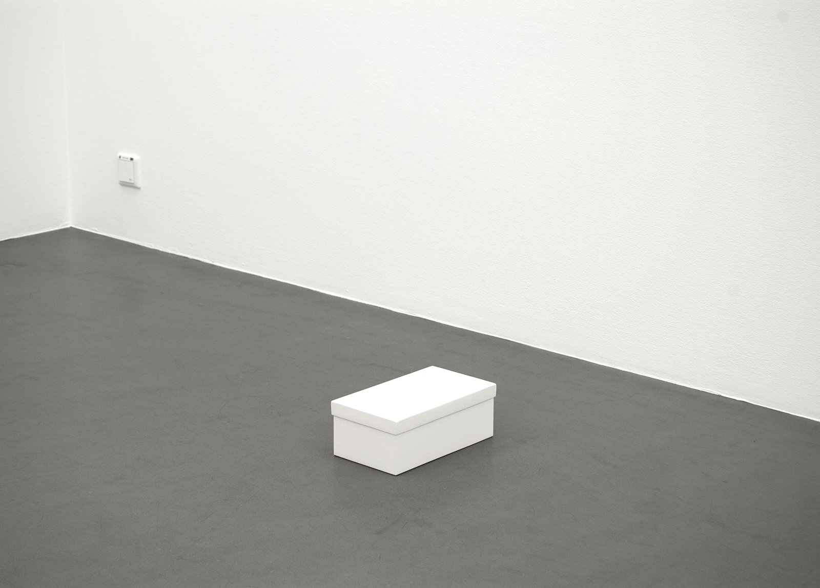 "Karin Ohlin, ""Kartong II"" (Carton), 2009, poppelplywood, chalk, 17 x 29 x 9 cm"