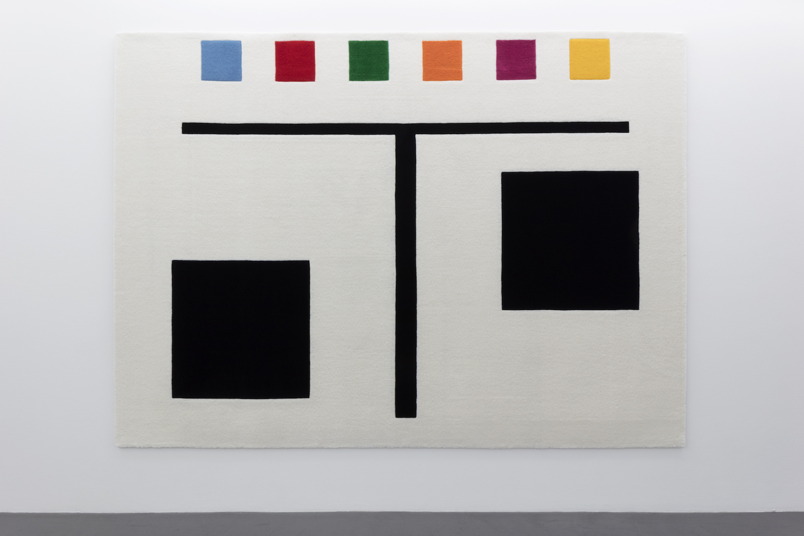 "Kristoffer Nilson, ""FLAGG (FLAG) I, 2017, hand wool, 294 x 213 cm"