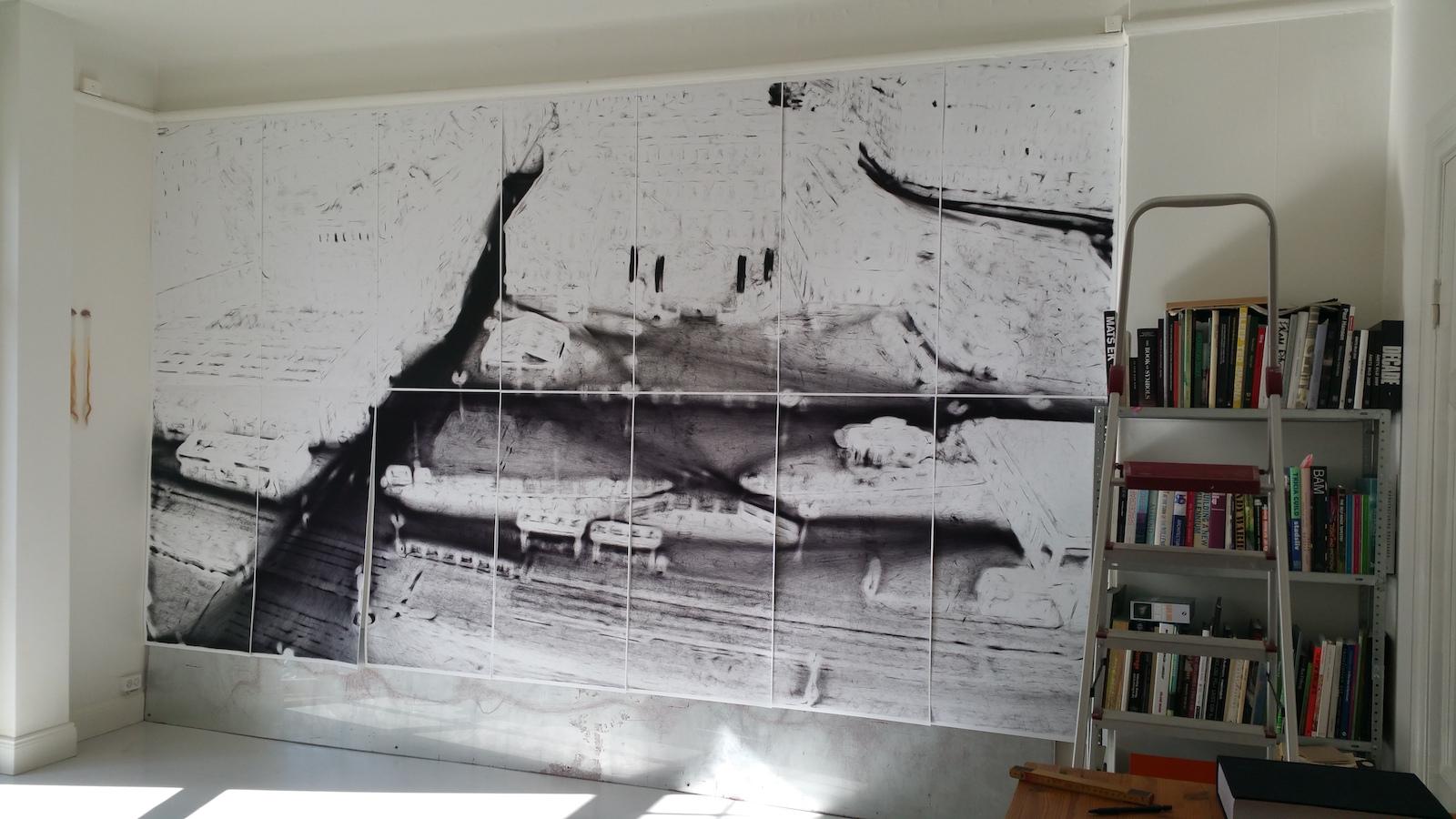 Mikael Lundberg, print (site specific) 6 x 3 m, 2017