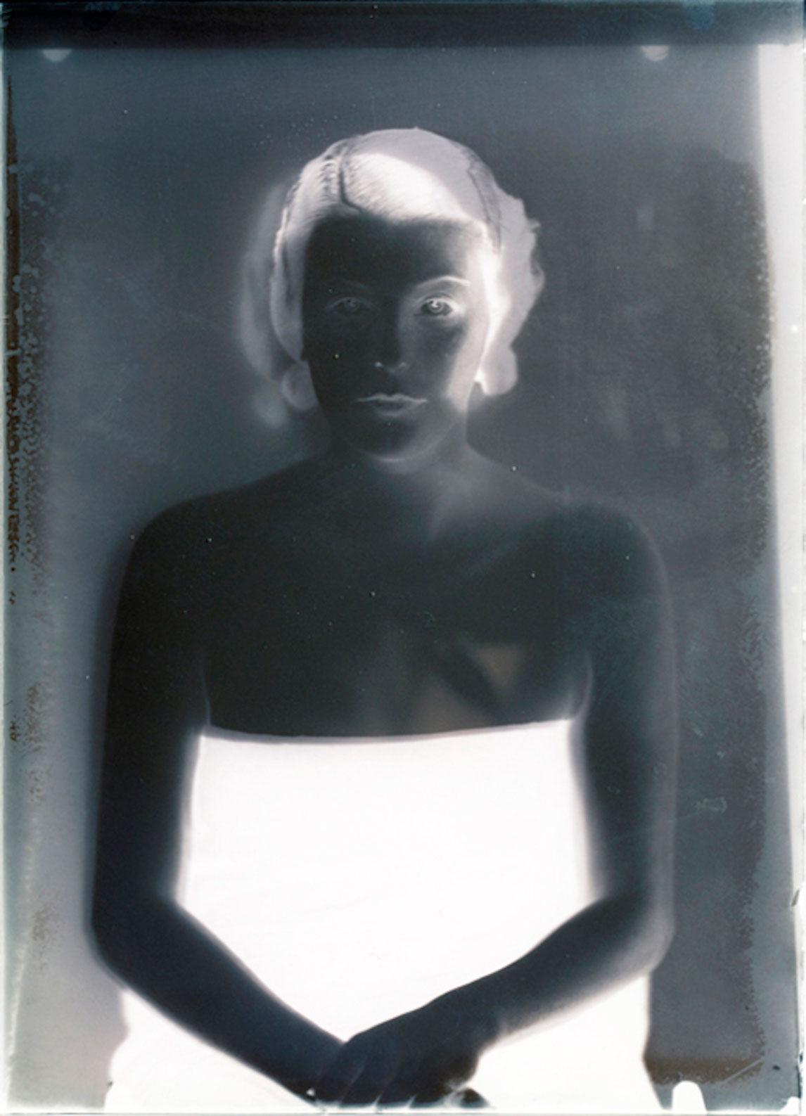 """Jorma Puranen, """"Museum Meditations 1 (Ester), 2013, digital c-print, diasec, wooden frame,  80 x 58 cm"""