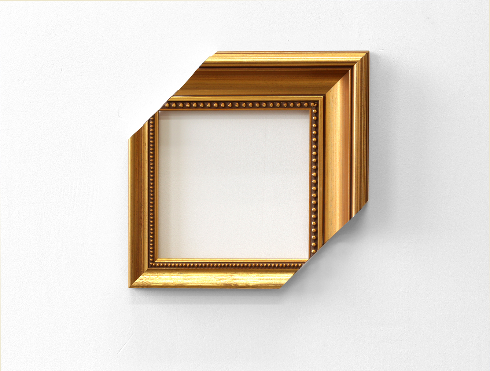 "Karin Ohlin, ""Ögat"" (The Eye), 2009-2013, gold frame, 25 x 25 cm"