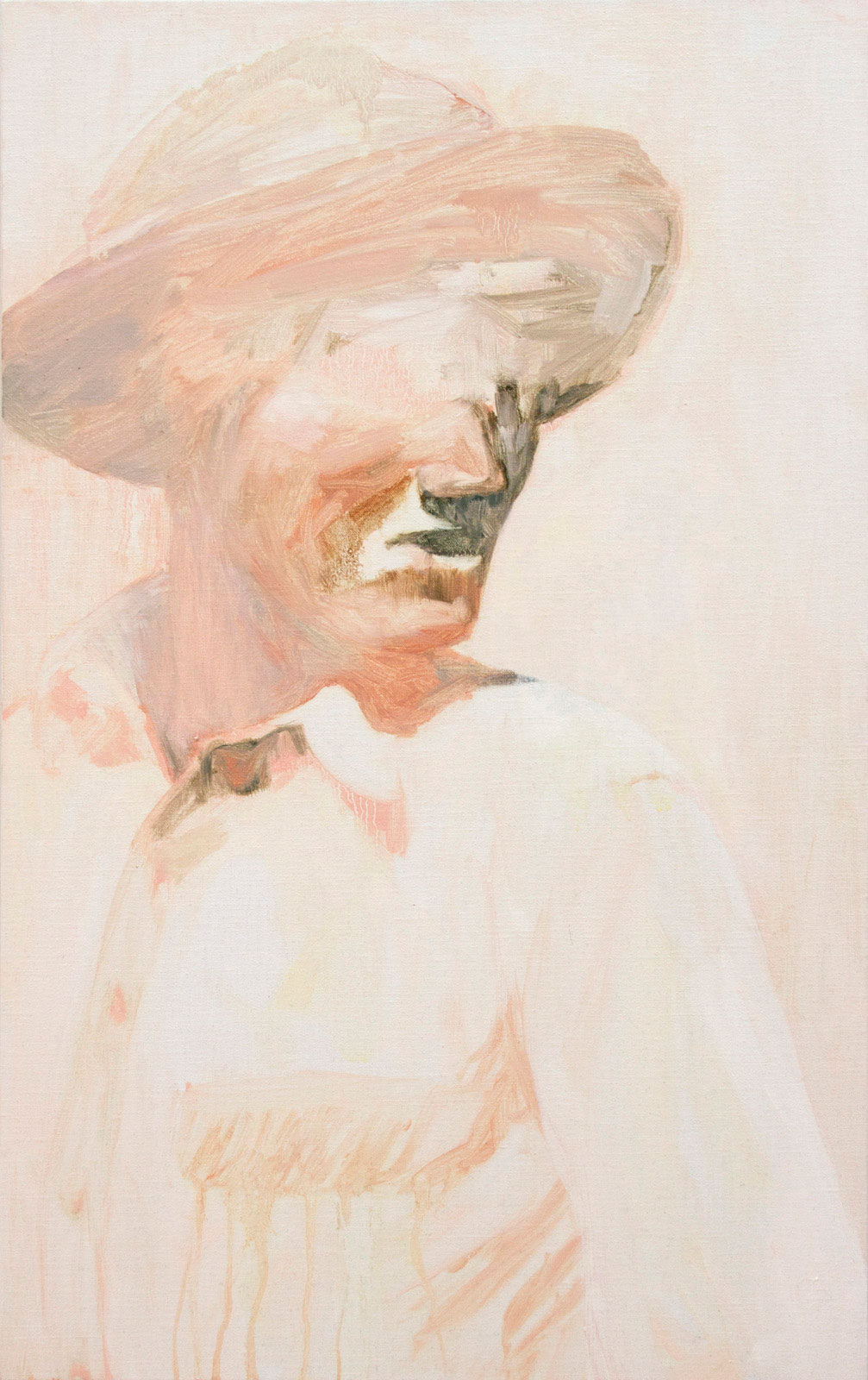 "Johanna Fjaestad, ""Parrot Guide I"", 2015, oil on canvas, 73 x 46 cm"