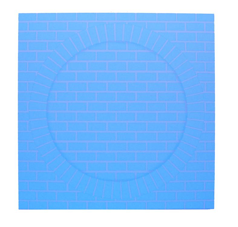 """Rickard Sollman, """"Passage Bleu"""", 2007/2008, oil on canvas, 122 x 122 cm"""