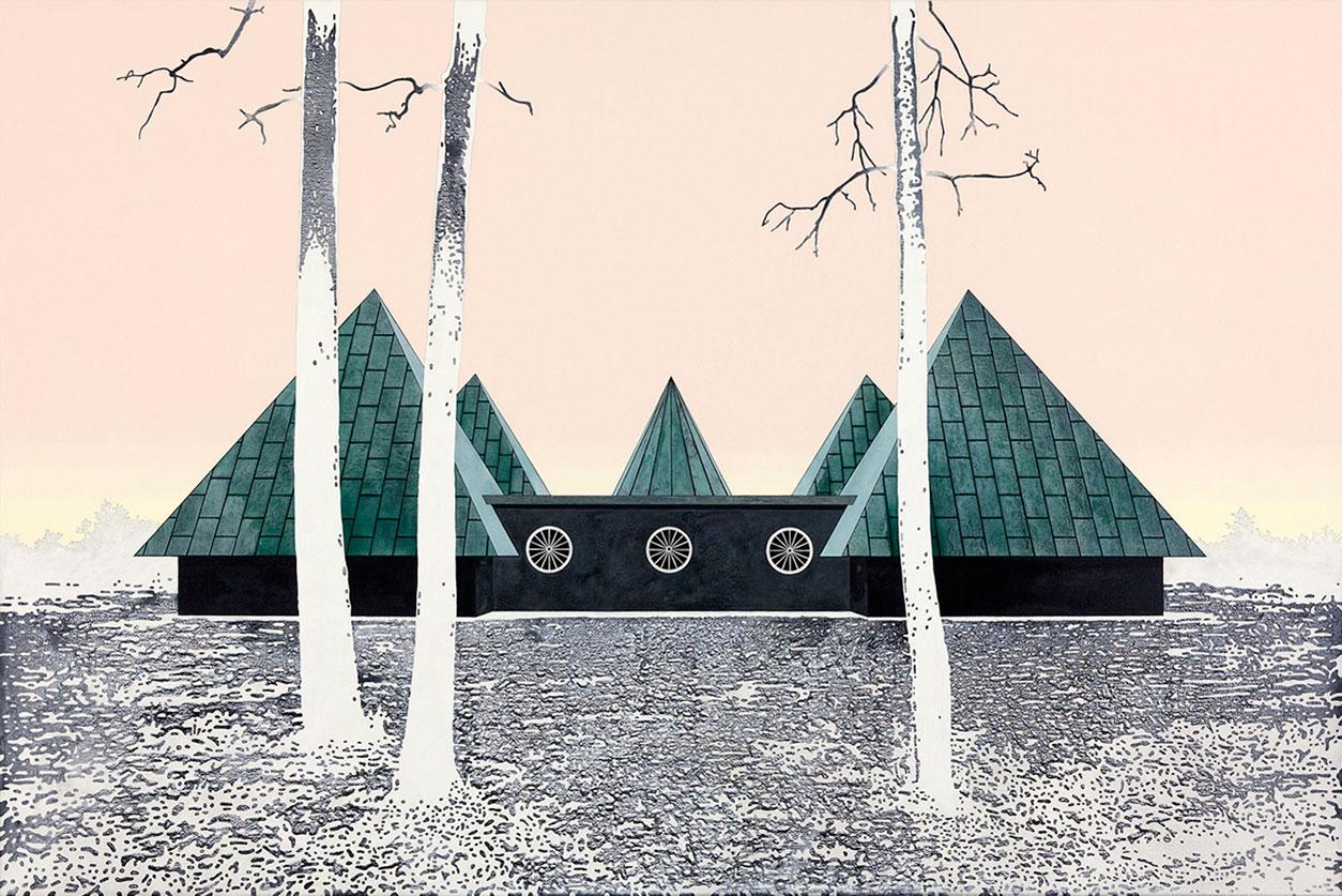"Henrik Samuelsson, ""Slow Vibe"", 2014 . Mixed media on canvas, 100 x 150 cm"