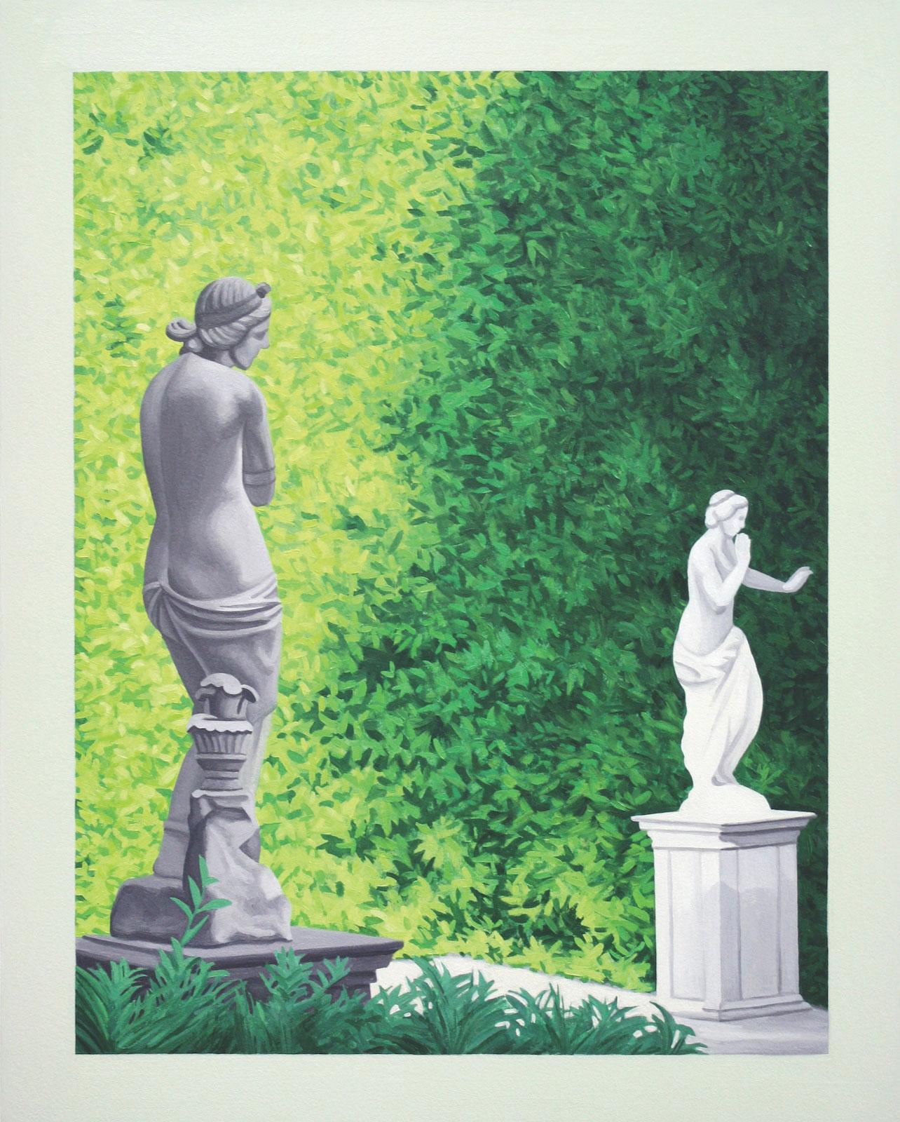"Johan Furåker, ""The Boboli Gardens"", 2012, oil on mdf, 46 x 36 cm"