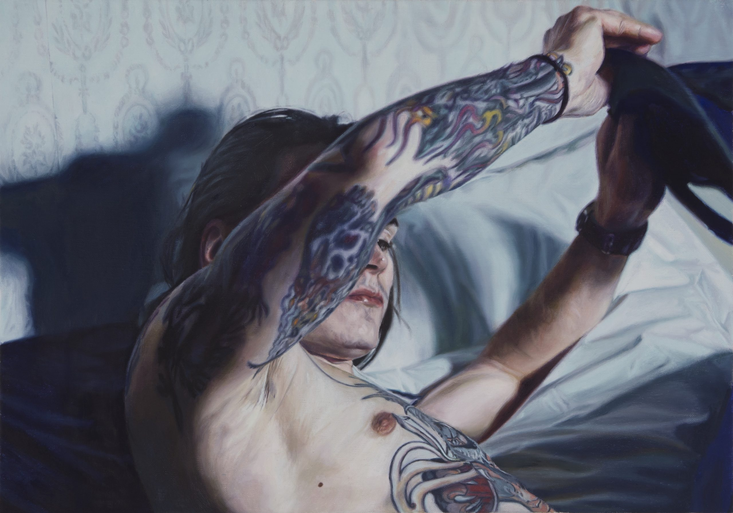 "Niklas Holmgren, ""Alexander rörelse"", 2018, Oil on canvas, 57 x 40 cm"