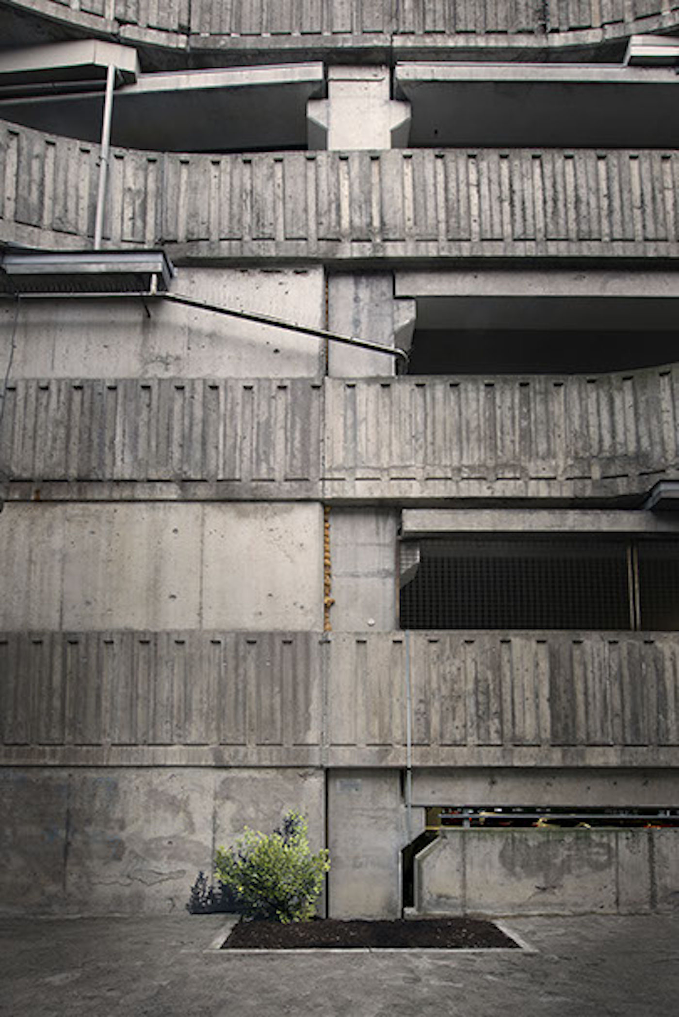 """Andreas Johansson, """"Eternal Sunlight"""", 2016, site-specific work on a parking garage in Norrköping."""