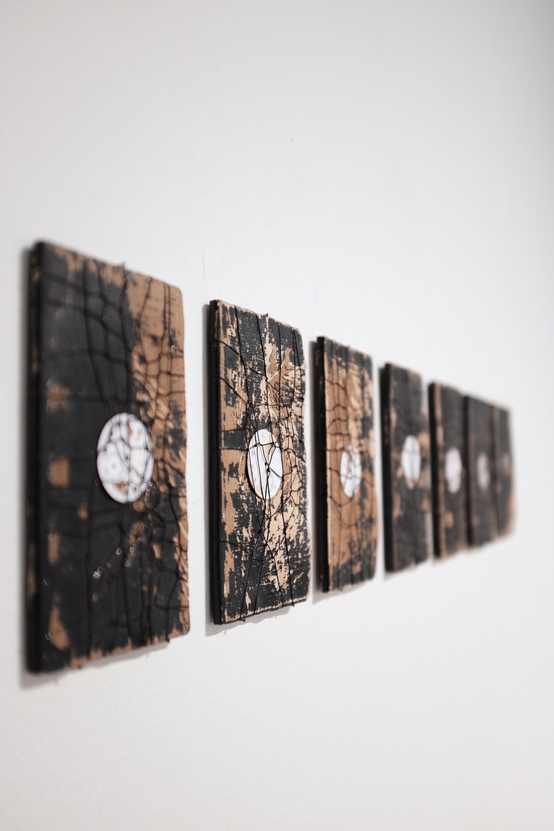 Christine Ferrer, Avec le temps,I – IX, 2018.