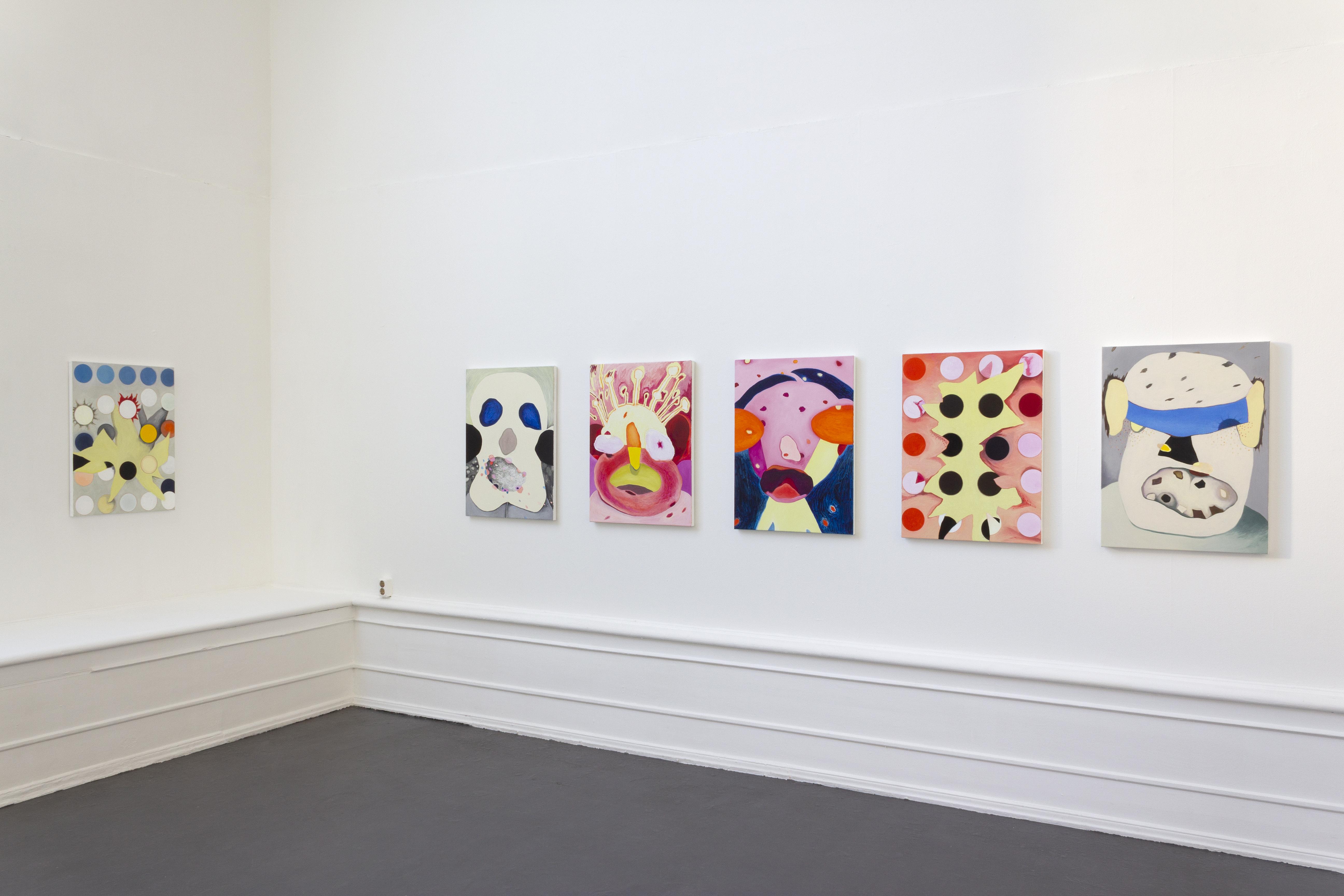 """Jan Svenungsson, """"Monstrosities"""", 2020, installation view, Galleri Flach"""