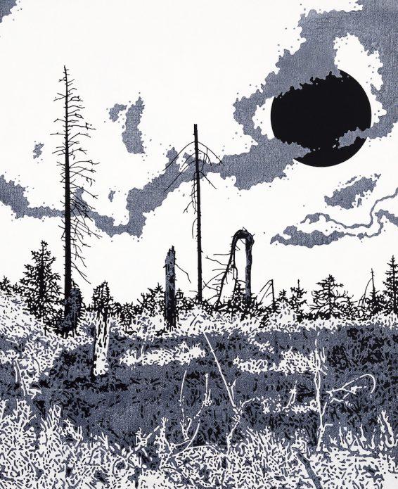 "Henrik Samuelsson, ""Frozen Orbit 4:05 a.m"", detail."