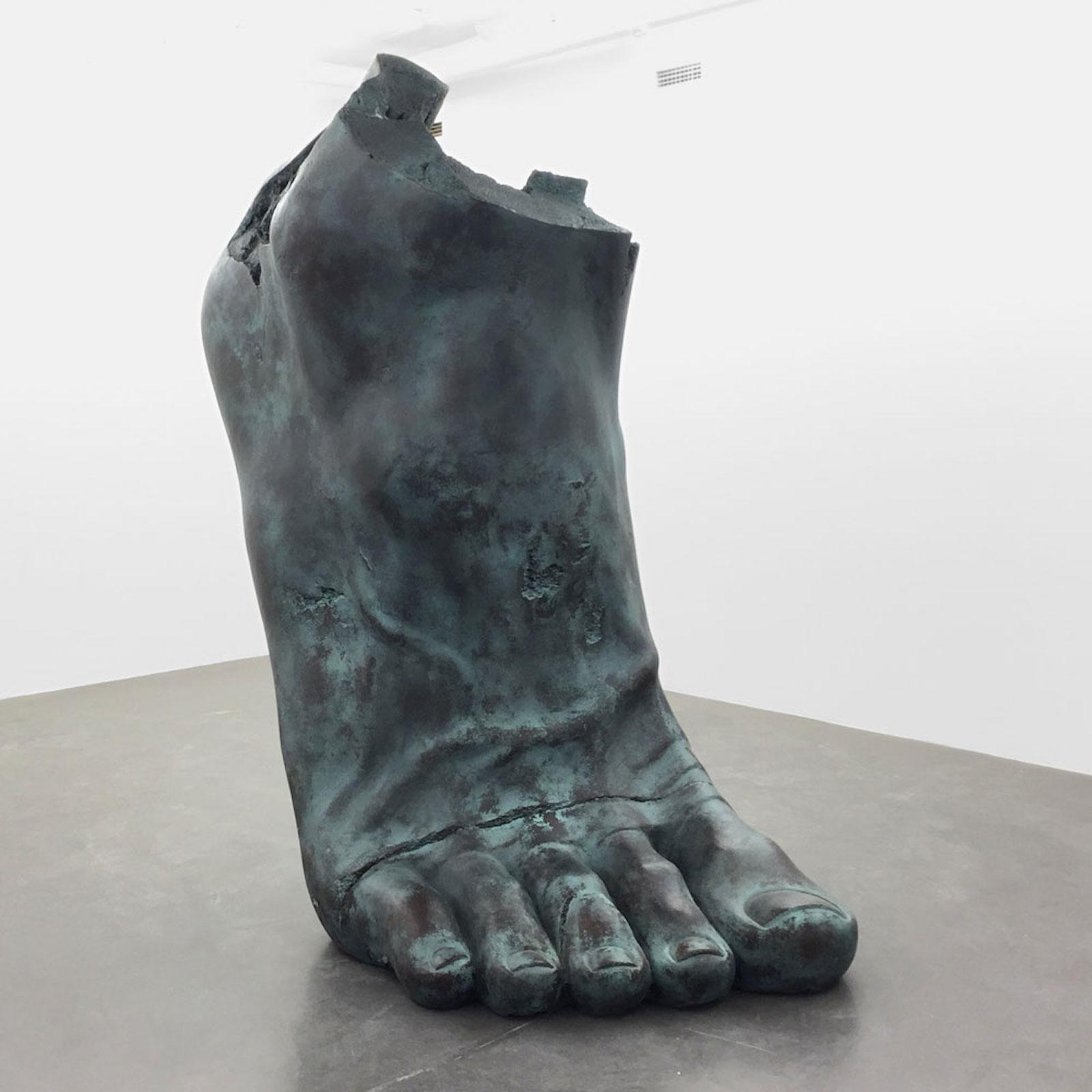 "Fredrik Wretman, ""Half Foot"", 2014, fiberglass, 250 cm, 250 kg"
