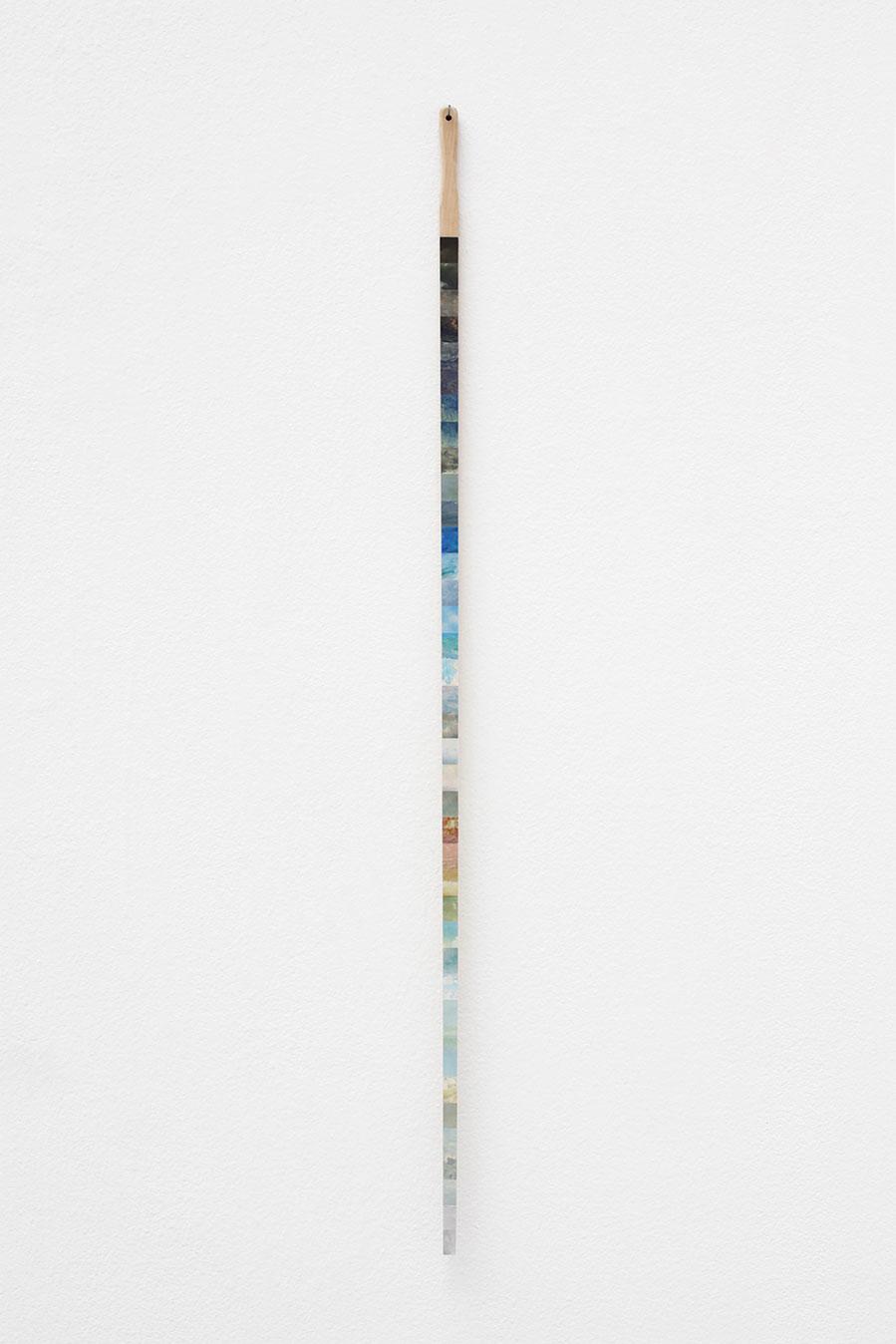 "Jakob Solgren, ""Himmelsticka"", 2015. Mixed media on wood, 112 cm"
