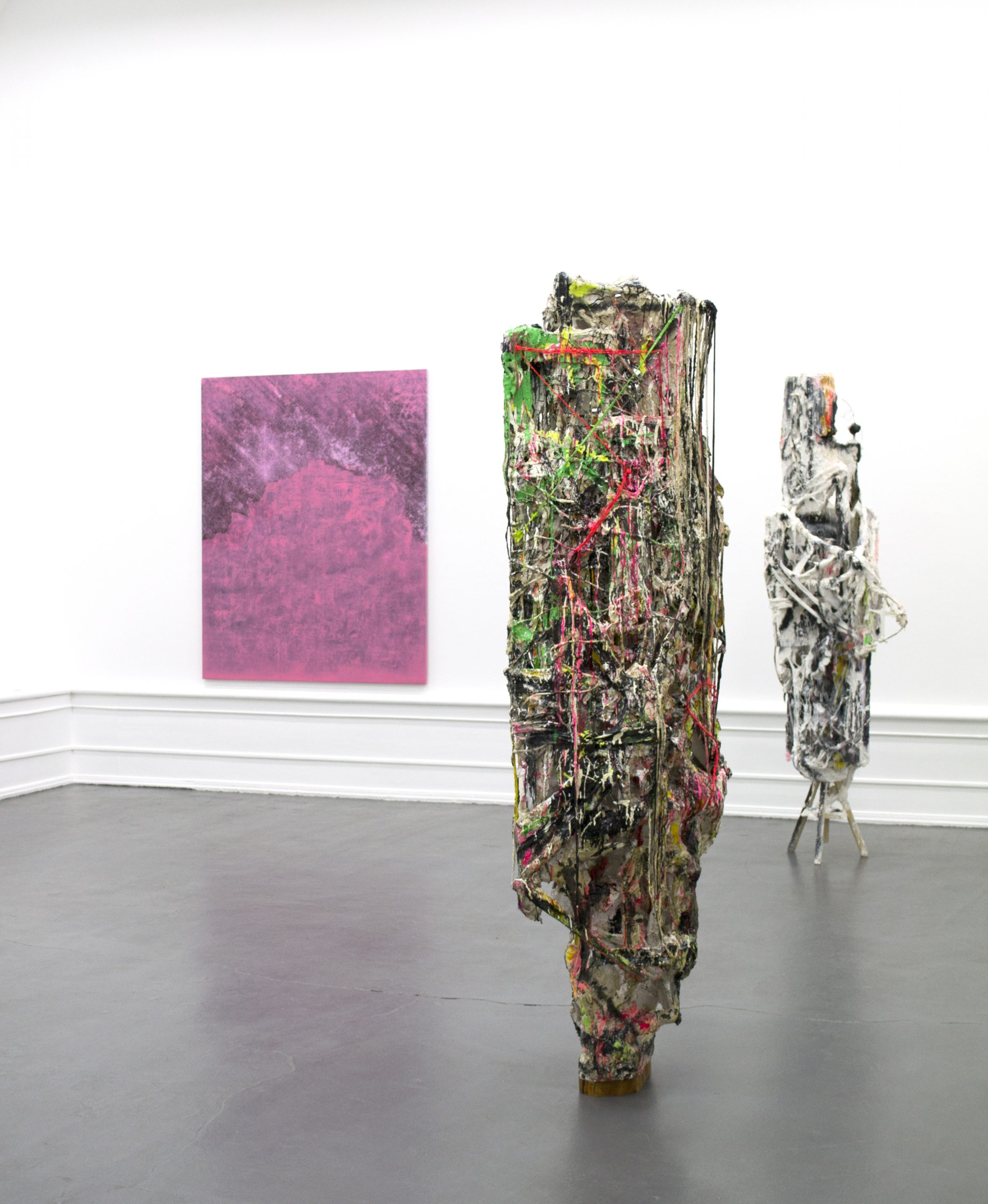Jakob Westberg  (Sculpture), Lisa D Manner (painting). Installation view: Sculpture and Painting in Dialogue, 2020