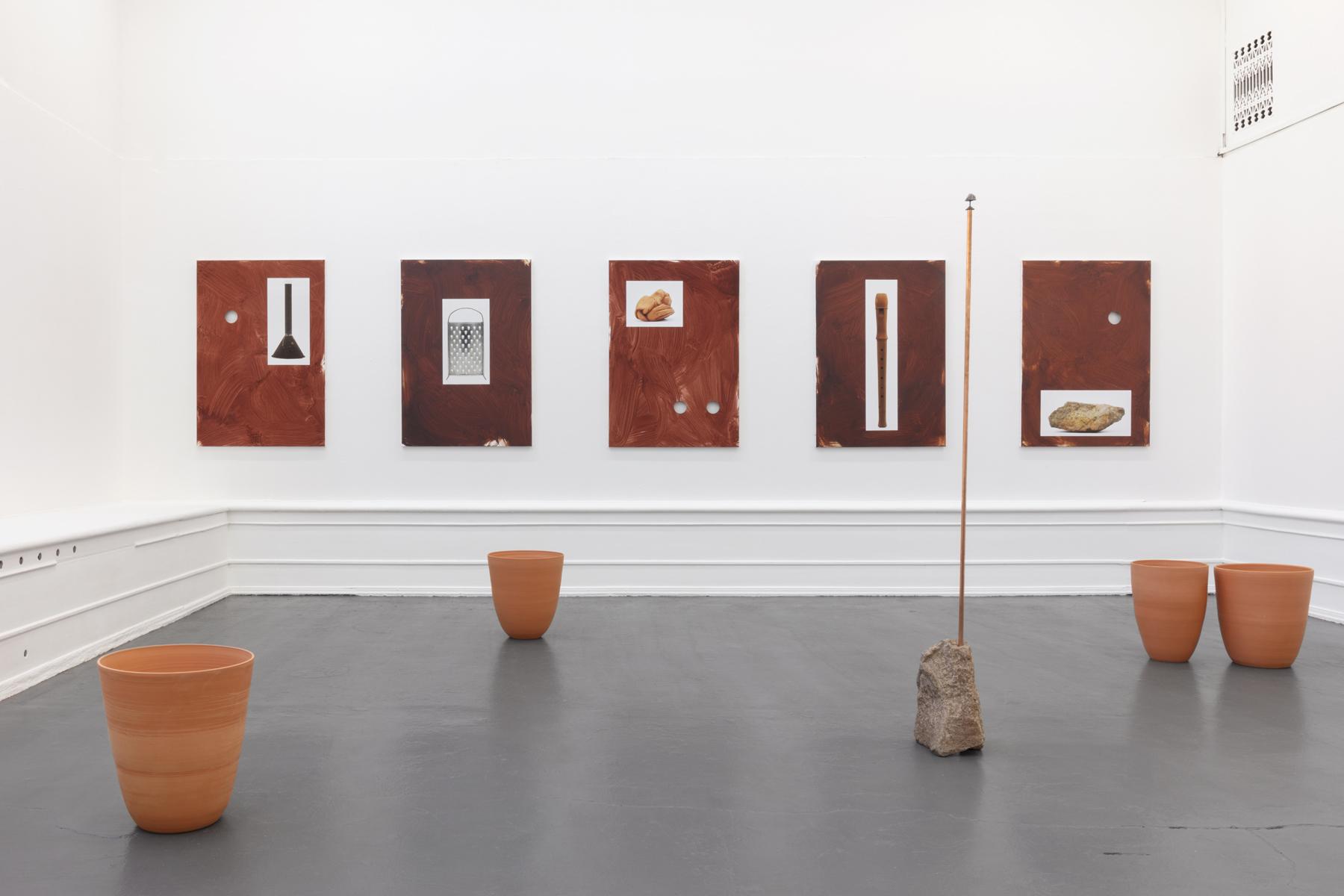 "Installation view: Jakob Solgren, ""Berget / The Montain""; 2020, Galleri Flach"