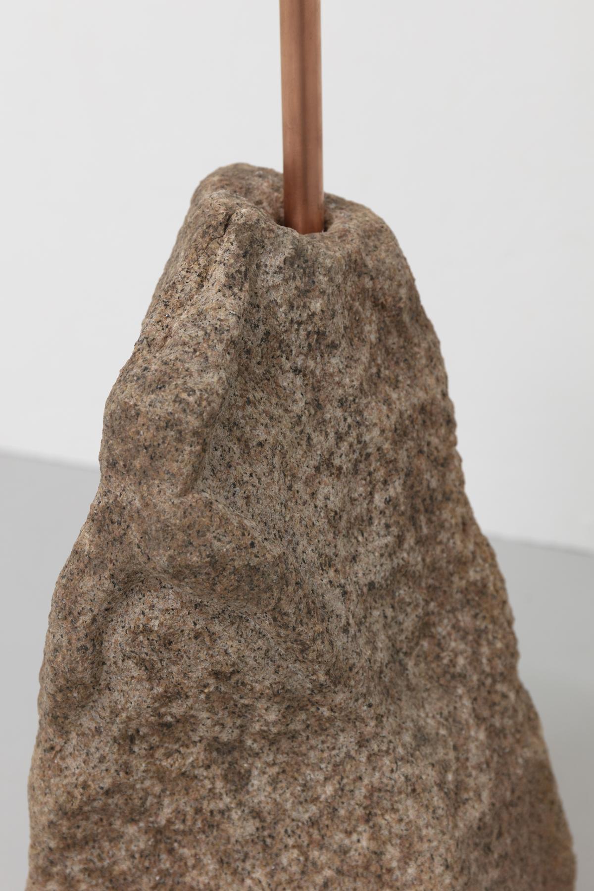 Detal) Berget /The Montain, 2020 Copper, granite, sterling silver 925 183 cm, basen: ca 20 x 20 cm