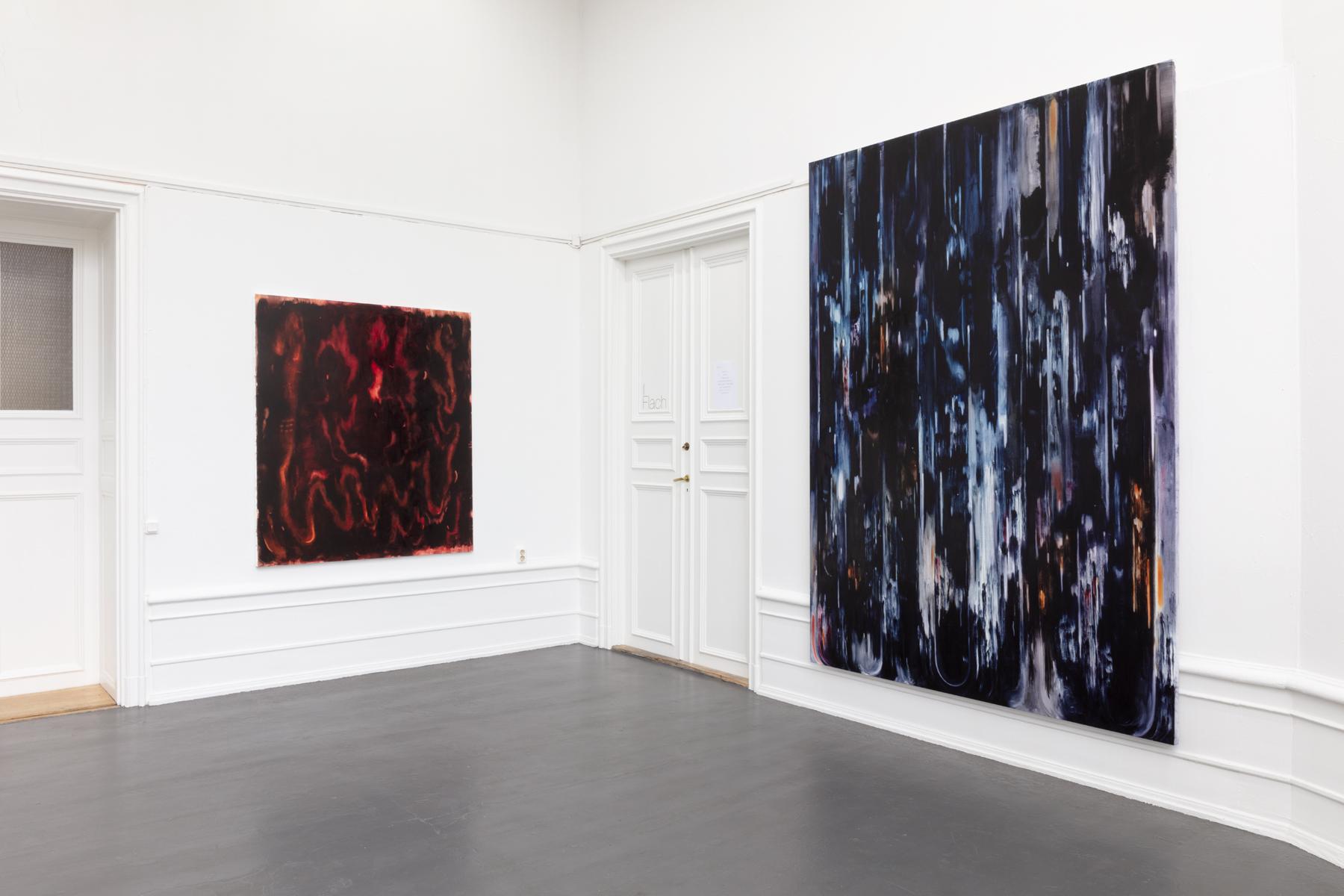 "Julia Selin, ""Hot soggy night writings"", installation view 2020"