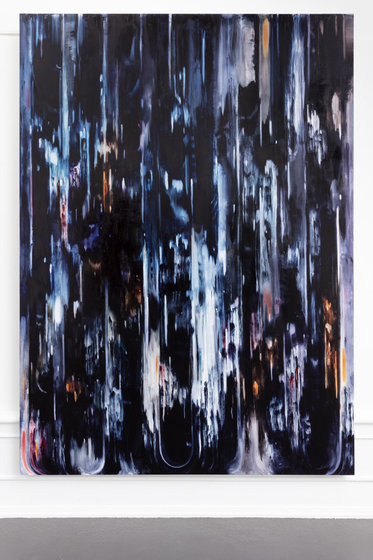 "Julia Selin ""Night rush"", 2020, oil on canvas, 270x196 cm"