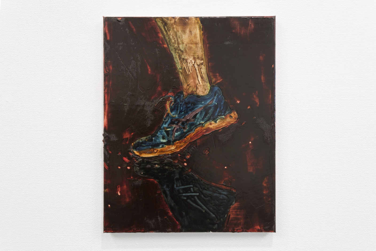 Asics, 2017, oil on canvas, 50 x 40 cm.