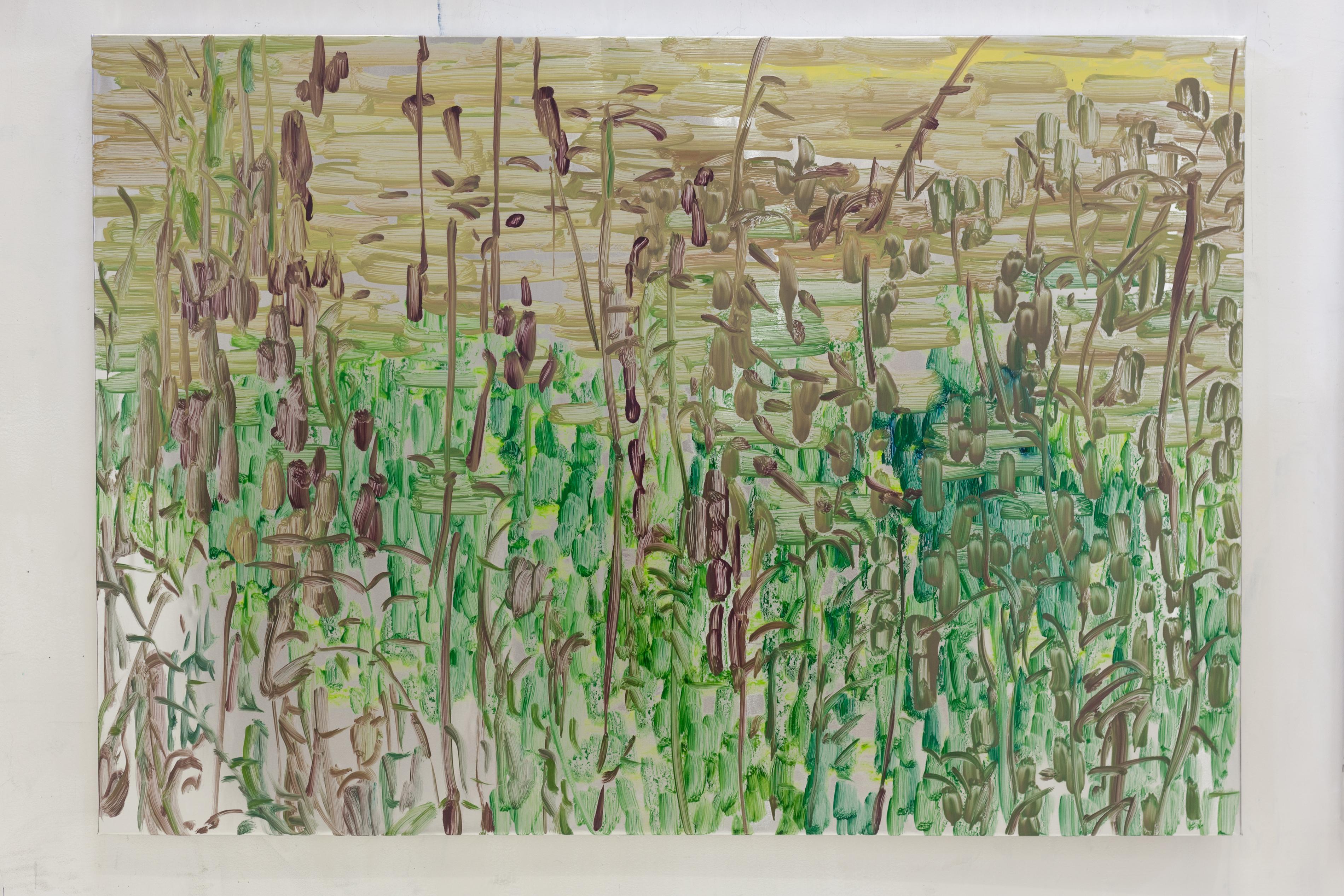 Henrik Eriksson, Utan titel (dhs 06), 2018 Oil on aluminium, 85 x 122 cm