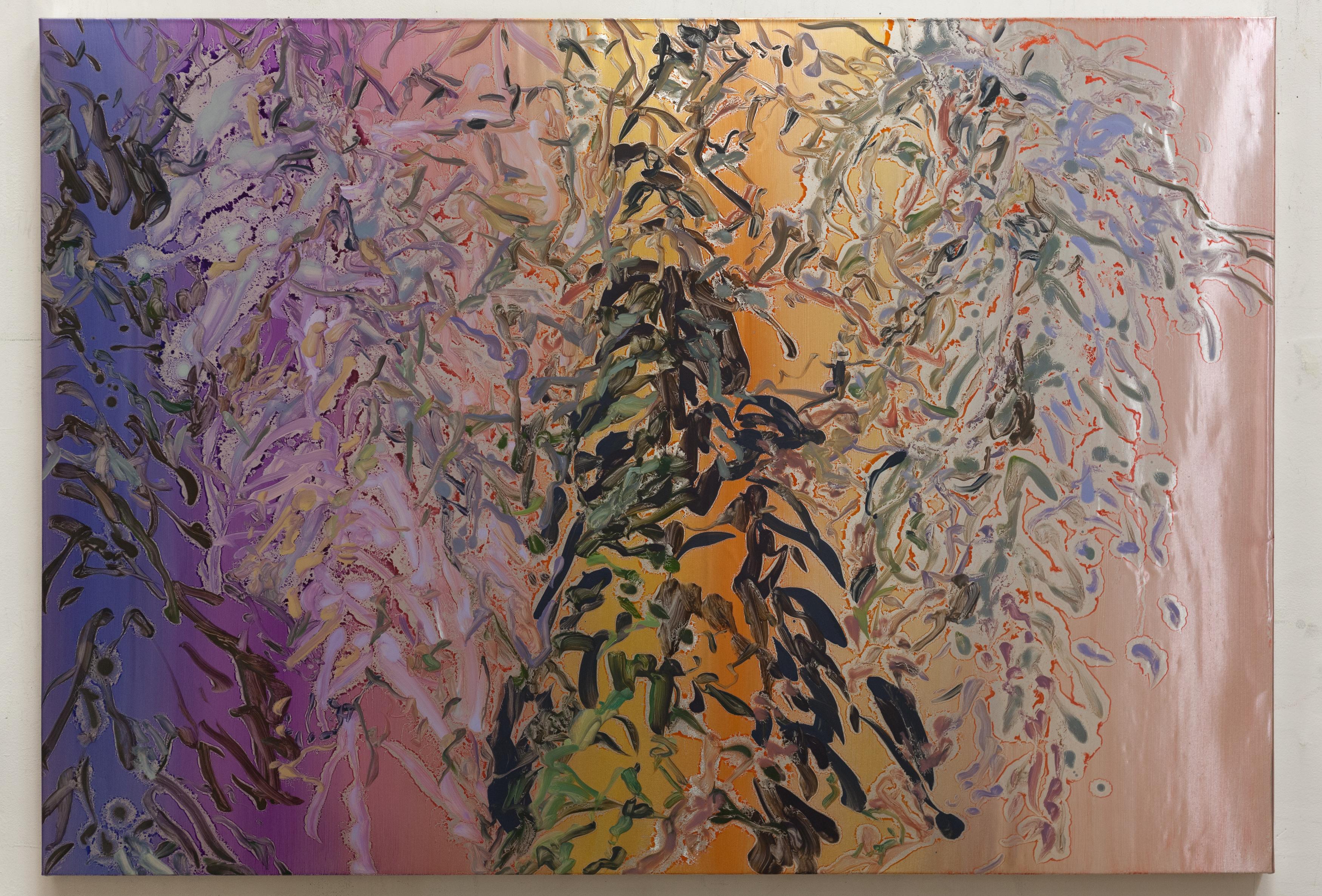 Henrik Eriksson, Utan titel (dhs 04), 2018 Oil on aluminium, 85 x 122 cm