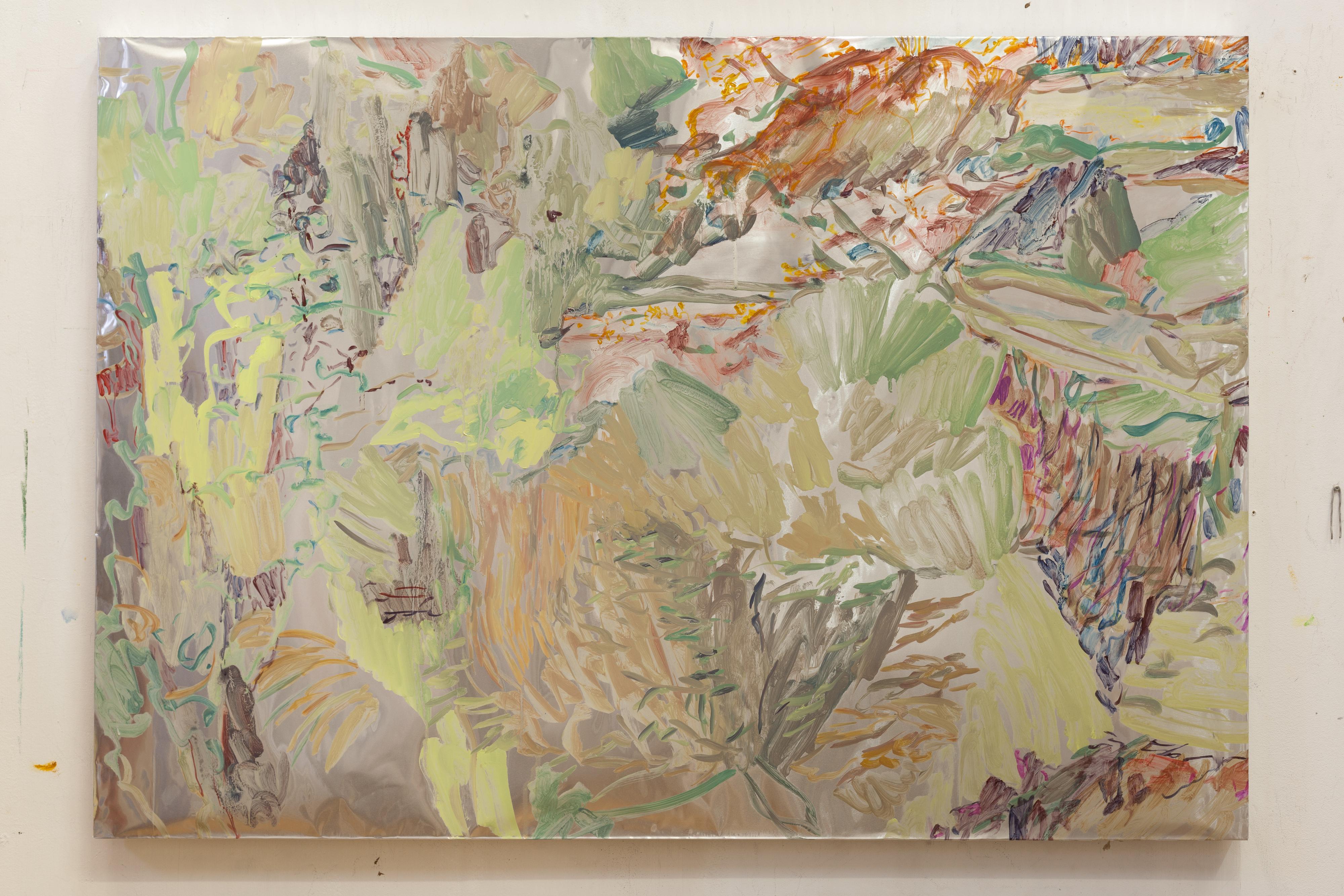 Henrik Eriksson, Utan titel (dhs x), 2018 Oil on aluminium, 85 x 122 cm