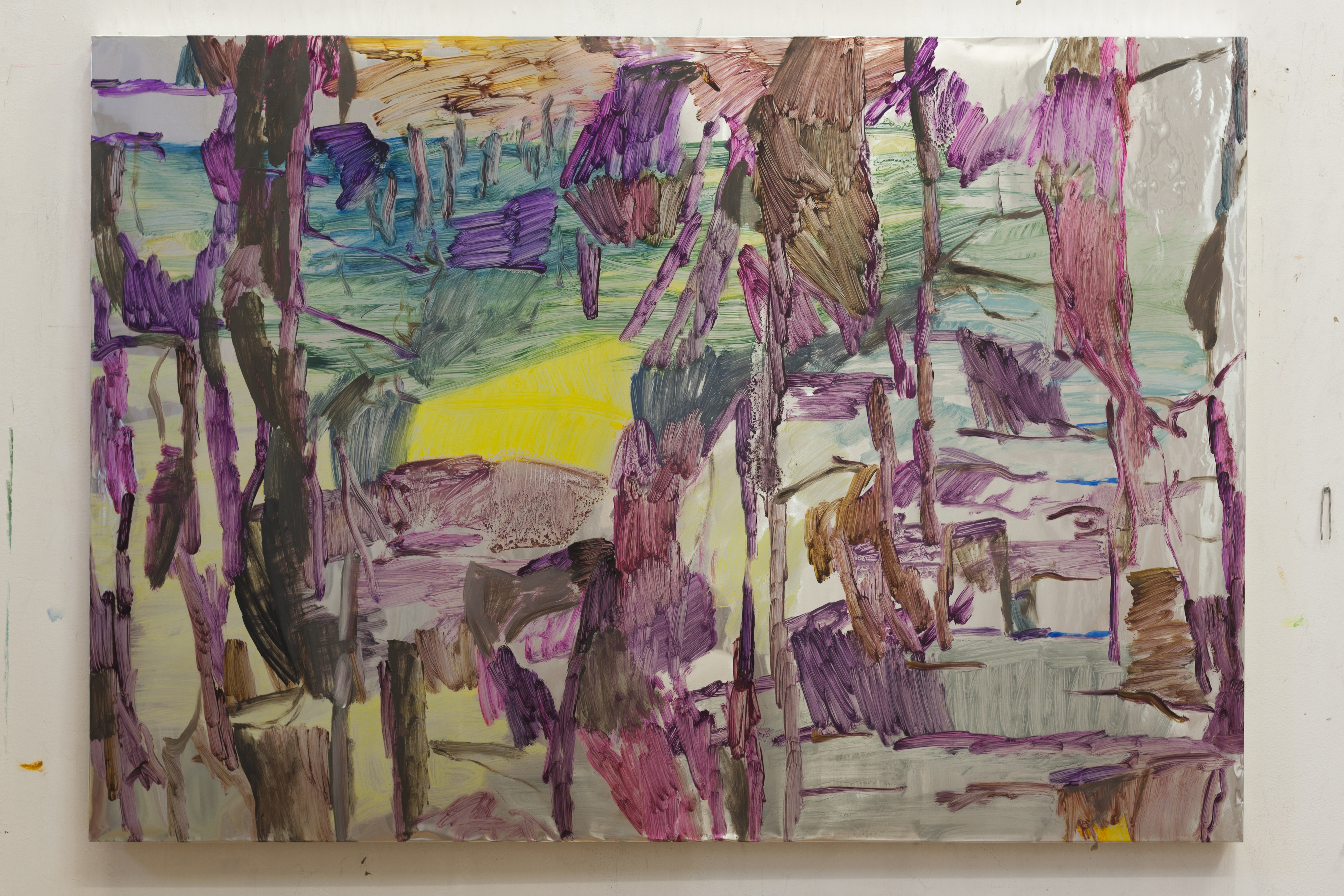 Henrik Eriksson, Utan titel (dhs 12), 2018 Oil on aluminium, 85 x 122 cm